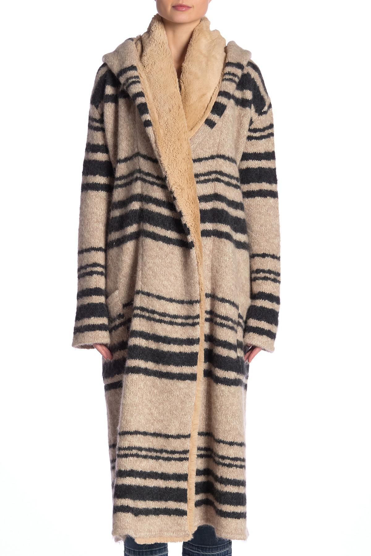 5dbf2f17f Free People Hooded Sweater Coat