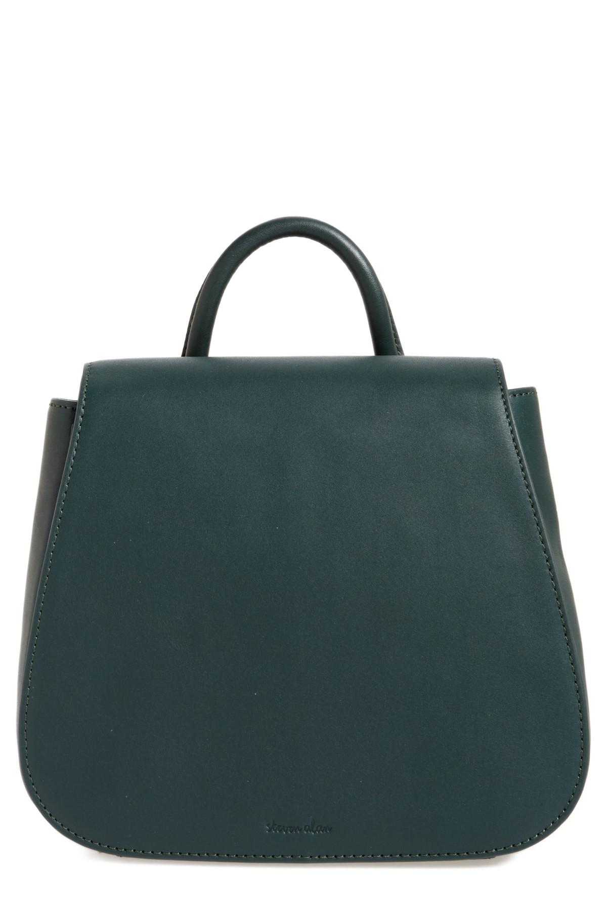 8b093b3db85 Steven Alan Small Kate Convertible Leather Backpack in Green - Lyst