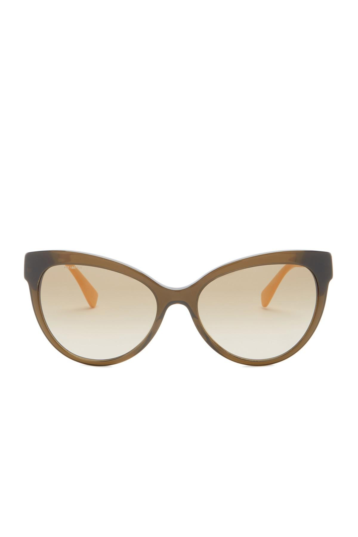 fb7ed4496e2e2 Lyst - Versace Cat Eye 57mm Sunglasses