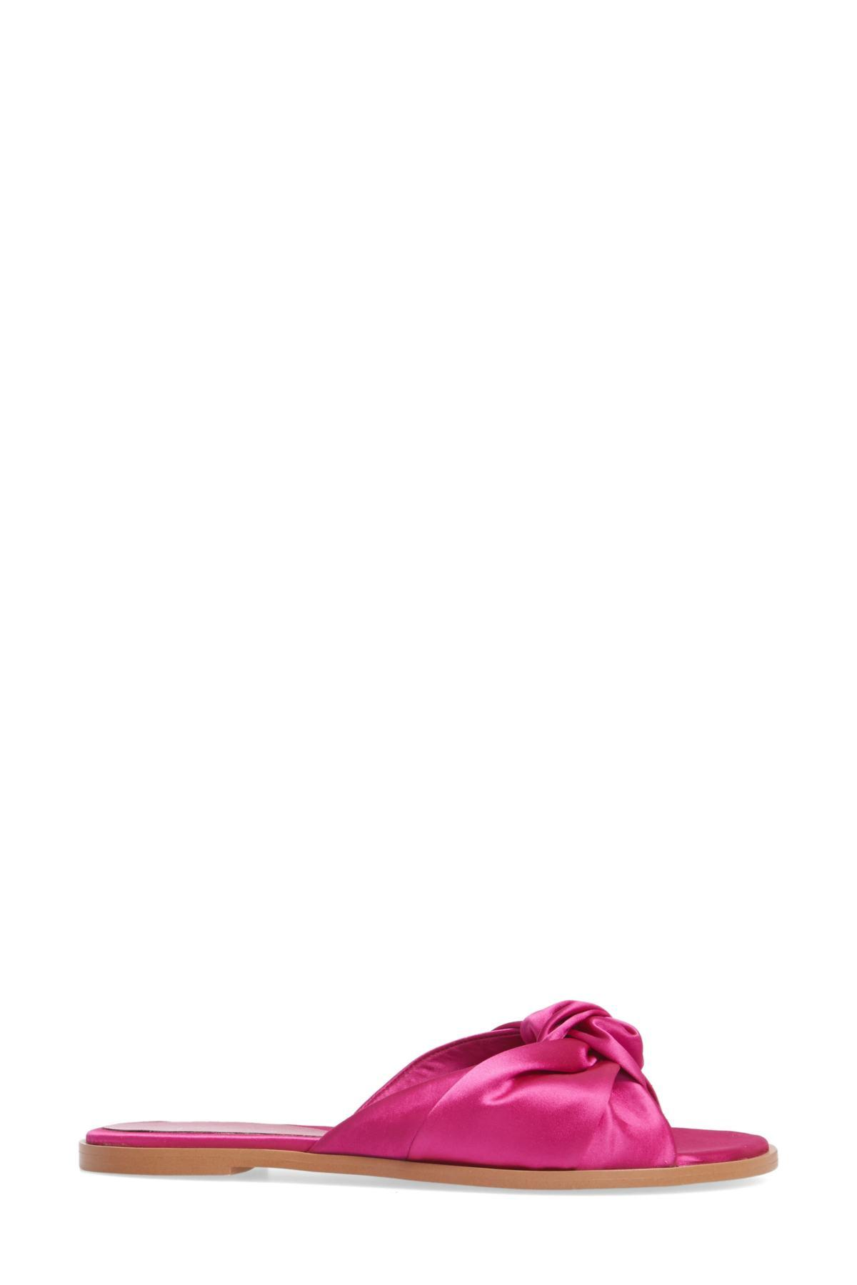 91c52dcb831 Lyst - Leith Nevie Knotted Slide Sandal in Pink