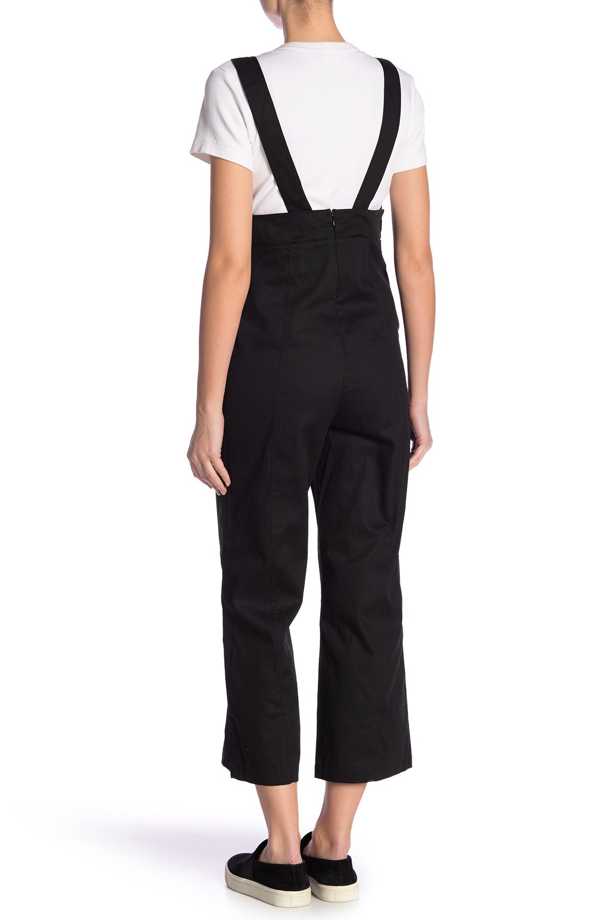 f48d6e28b7a9 Lyst - Lucca Couture Fitted Overalls in Black