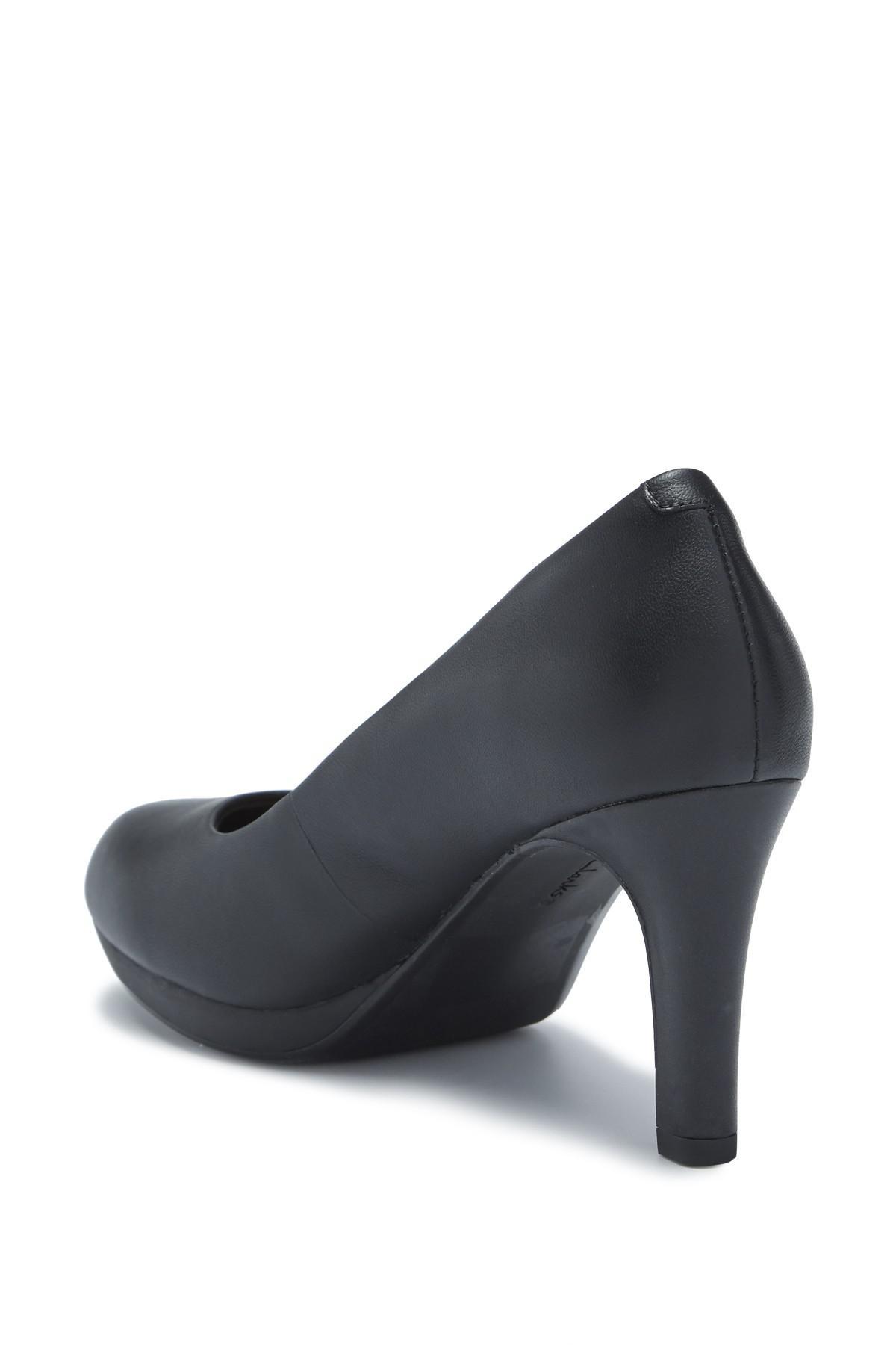 642a1dc4b39 Clarks - Black Adriel Viola Leather Pump - Wide Width Available - Lyst.  View fullscreen