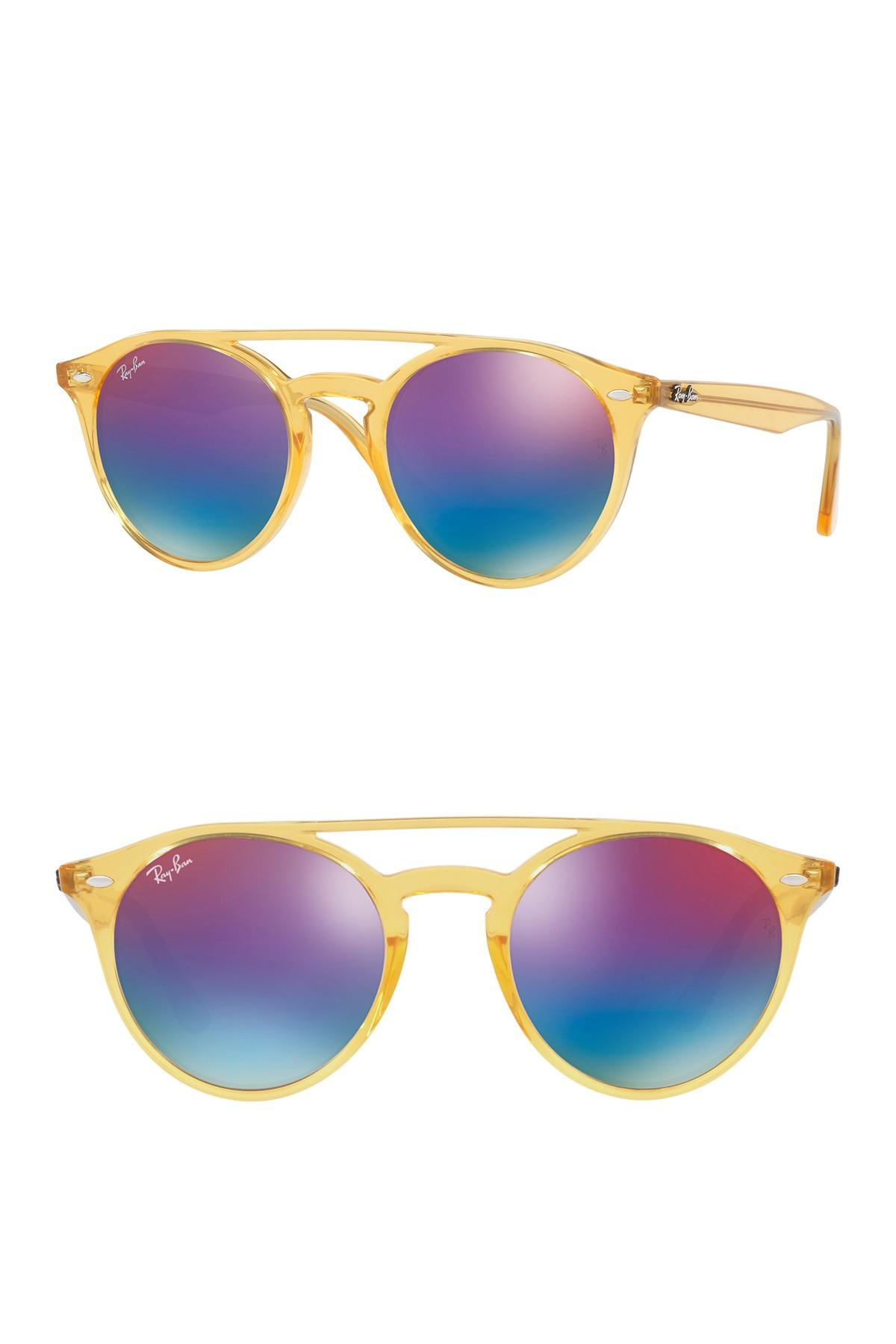 c83d8f4736 Ray-Ban 51mm Mirrored Rainbow Sunglasses in Yellow for Men - Lyst