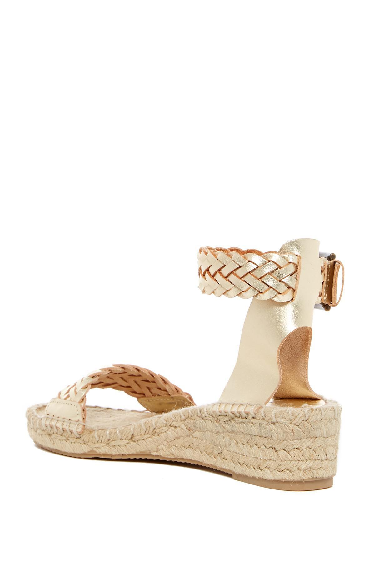 d342fa3b338 Lyst - Soludos Woven Open Toe Demi Wedge Sandal