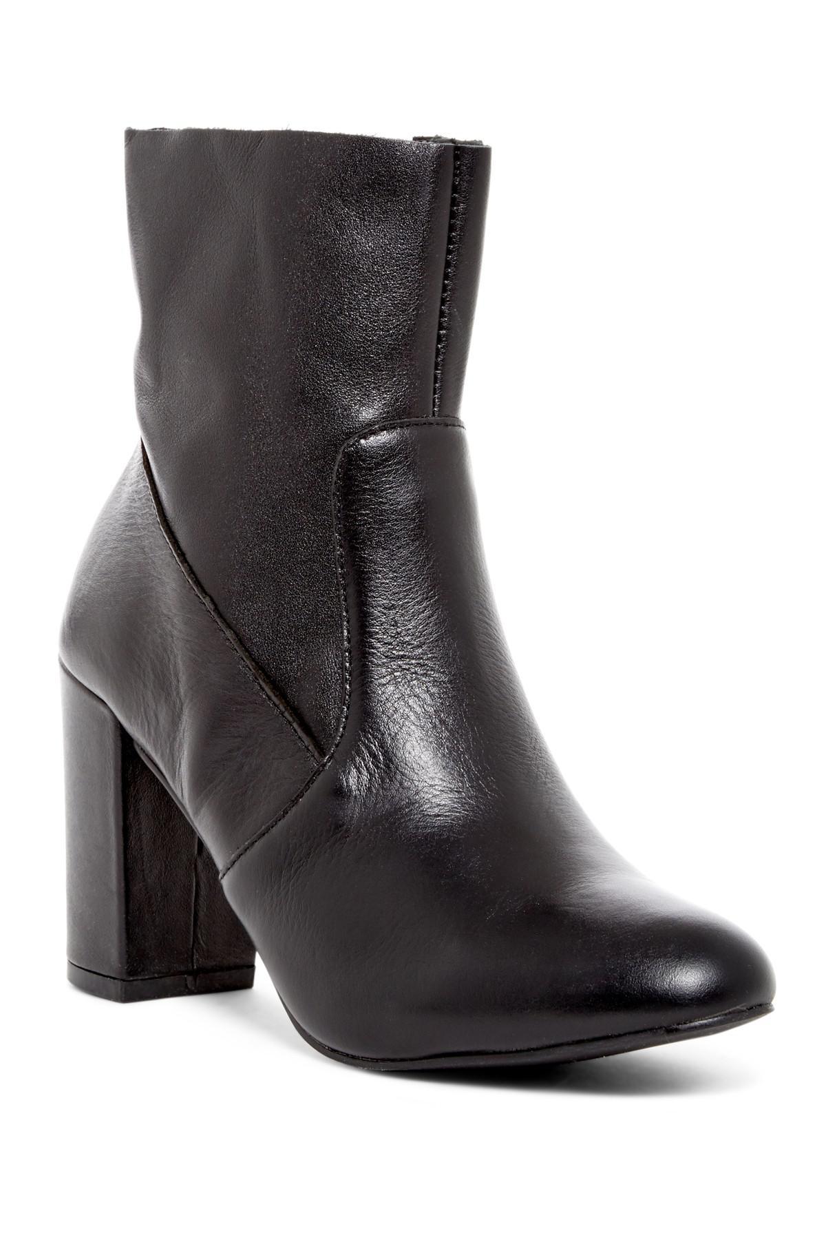 Steve Madden. Women's Black Miranda Leather Bootie