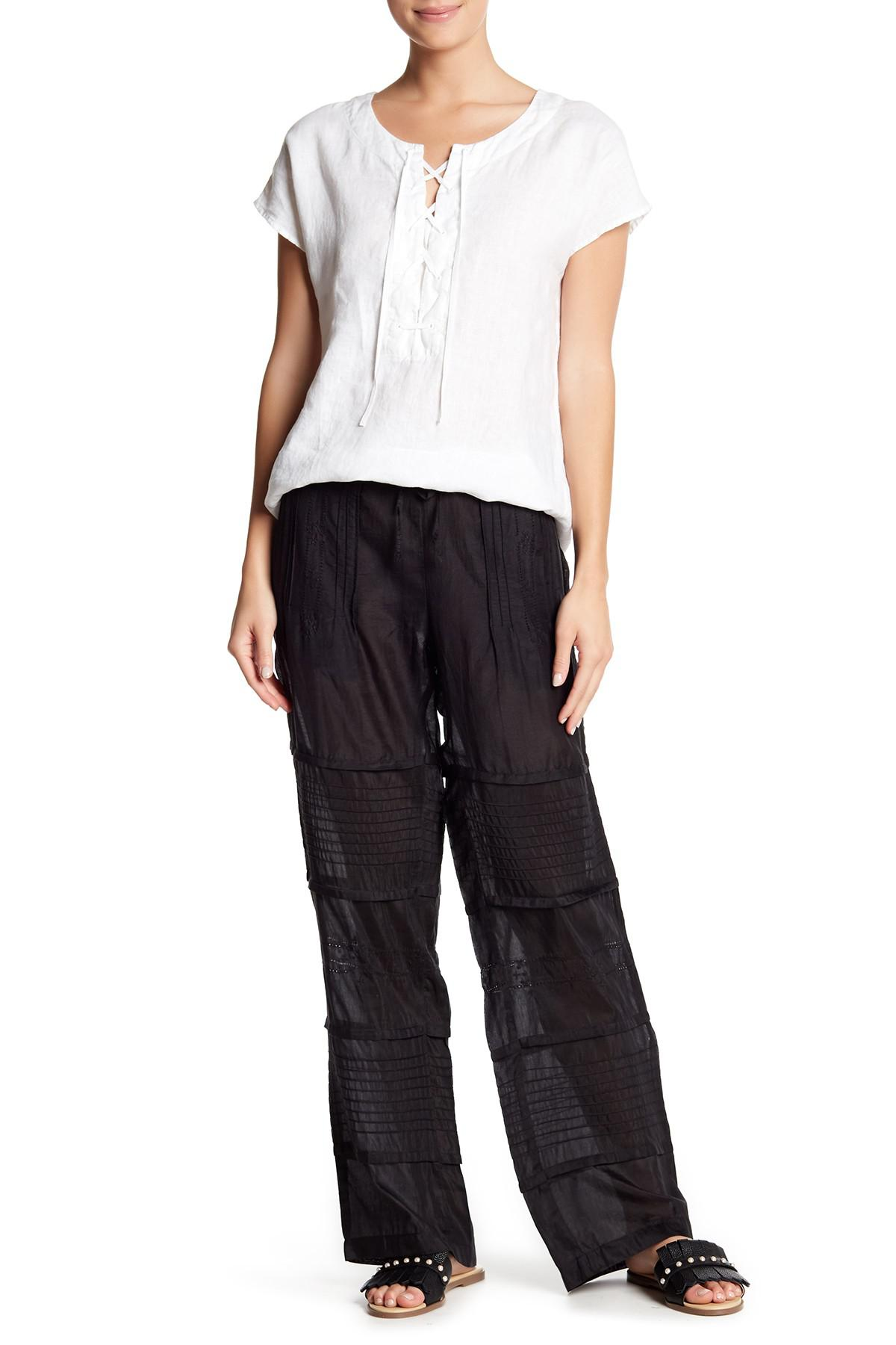 49929ed3781 Lyst - Johnny Was Pleated Pants in Black