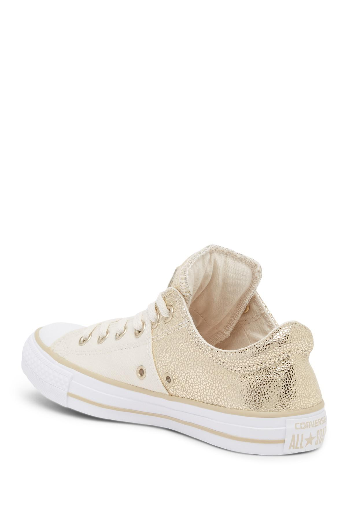 0b618b45f8c0 Lyst - Converse Chuck Taylor All Star Madison Metallic Low Top ...