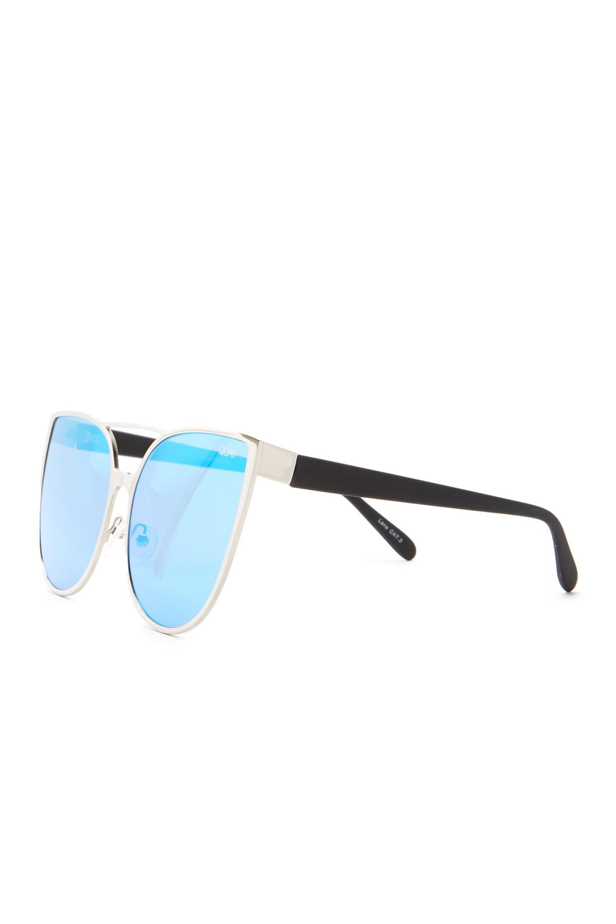 59e890c2fcf22 Lyst - Quay Sorority Princess 55mm Cat Eye Sunglasses in Blue