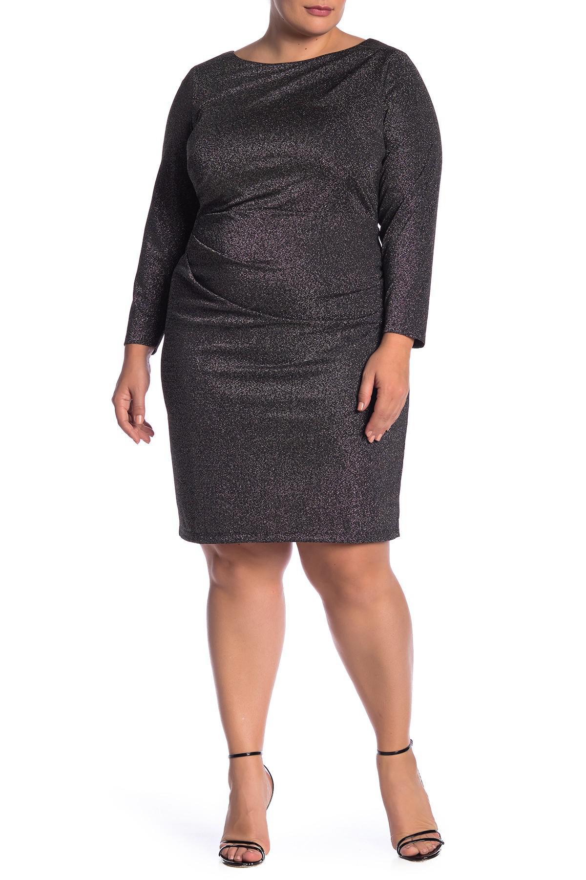 b8ccd42fb50 Lyst - Eliza J Sparkle Knit Bodycon Dress (plus Size) in Black