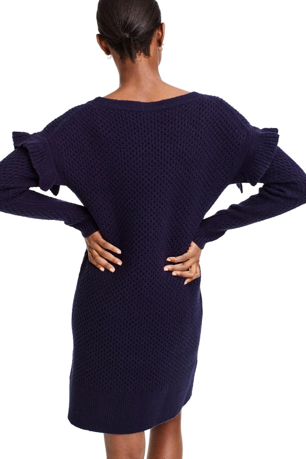 69621c06d61 Lyst - J.Crew Holden Ruffle Sleeve Cable Knit Sweater Dress (petite ...