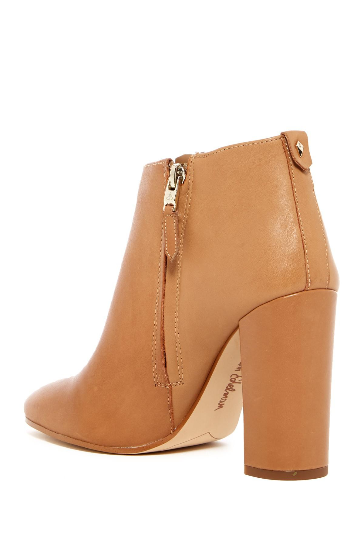 09eaf2e34 Lyst - Sam Edelman Cambell Heeled Bootie in Brown