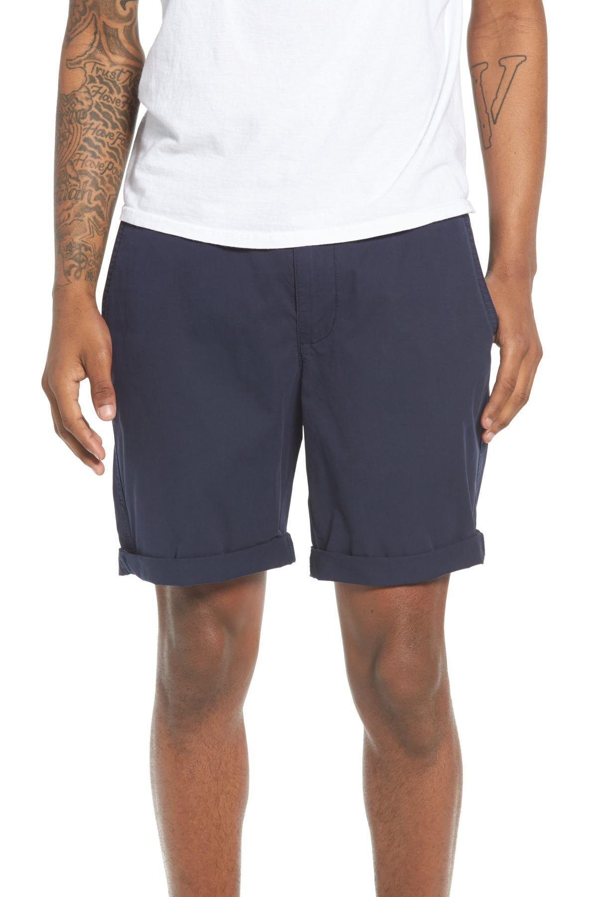 59025555382c1 Lyst - The Rail Washed Cuffed Shorts in Blue for Men