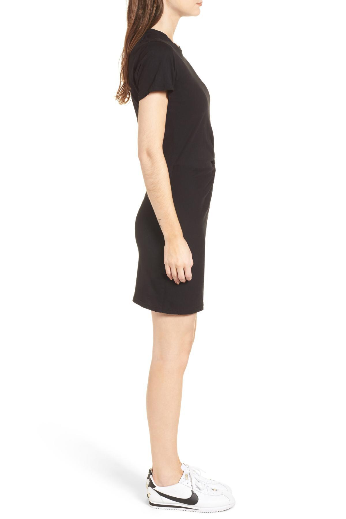 e84d09aaca2 Lyst - N Philanthropy Jazz Knotted T-shirt Dress in Black