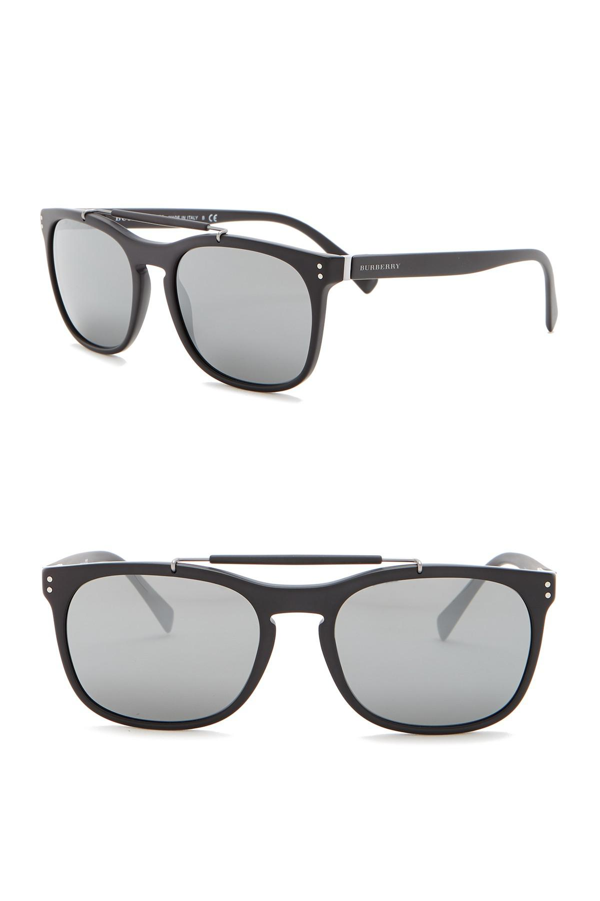 56dd33d2df Lyst - Burberry Tailoring The Mr. 56mm Square Browbar Sunglasses in ...