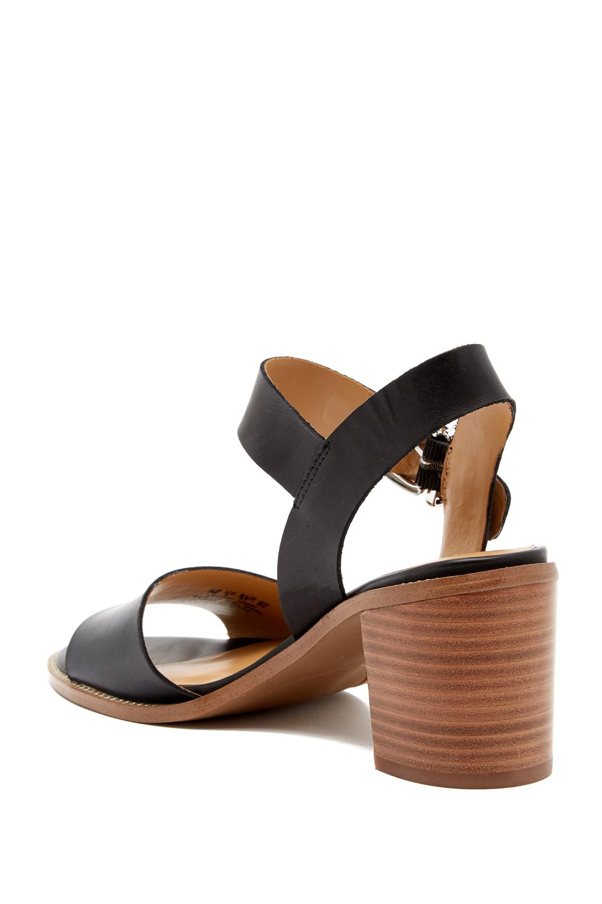 3e98ae3a0554 Franco Sarto - Black Harlie Ankle Strap Leather Sandal - Lyst. View  fullscreen