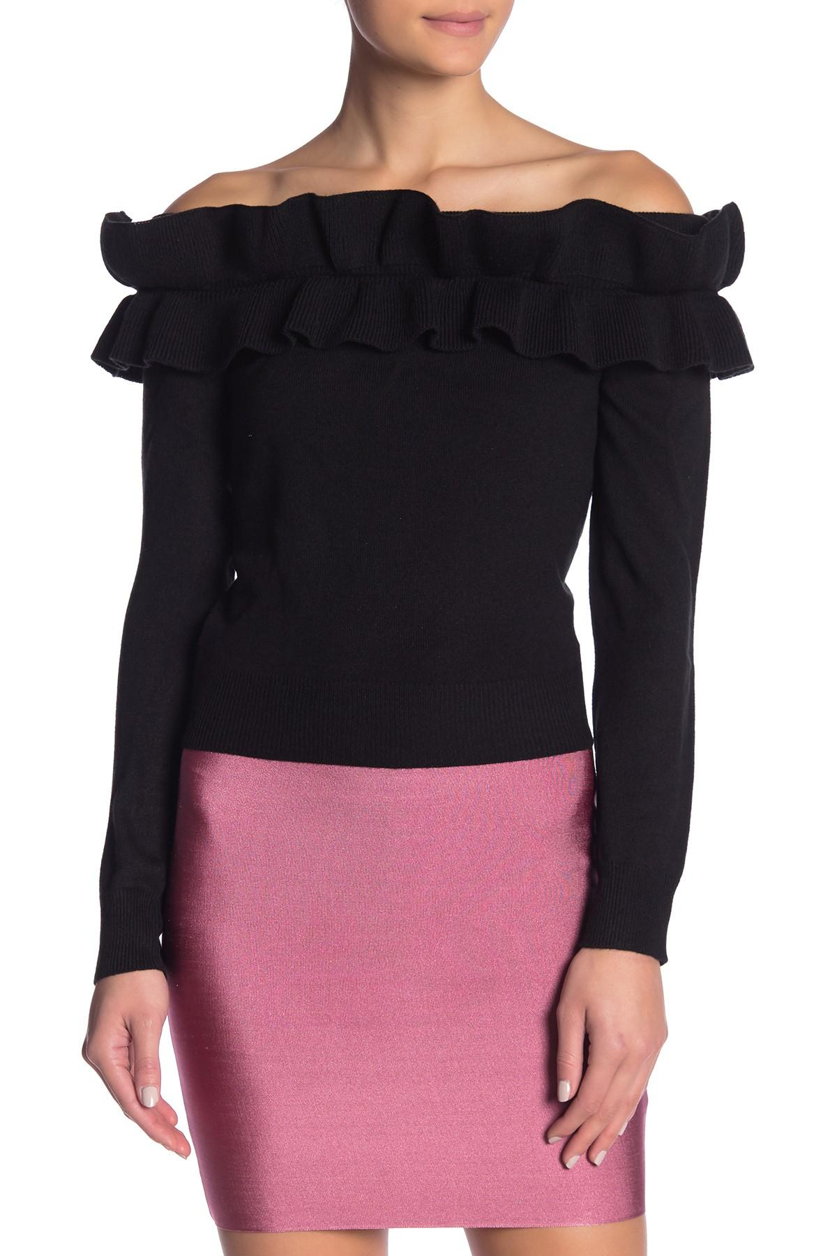 93fb27c8a Wow Couture. Women's Black Natalie Peplum Off Shoulder Top. $53 $30 From Nordstrom  Rack