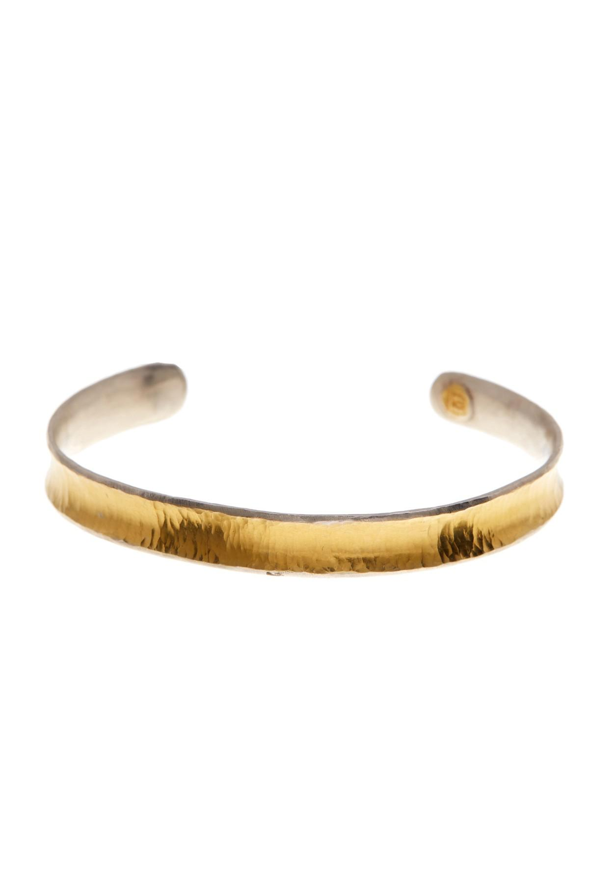 Gurhan Large Hourglass Hammered Cuff in 24K Gold 4D35PMpg