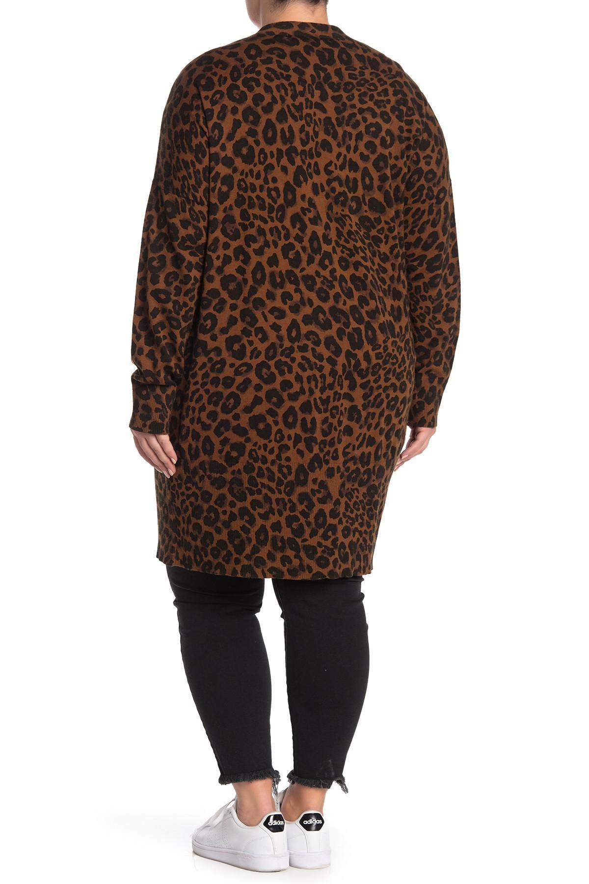 69bf1ffb9b7 Sanctuary - Brown Lenox Leopard Cardigan (plus Size) - Lyst. View fullscreen