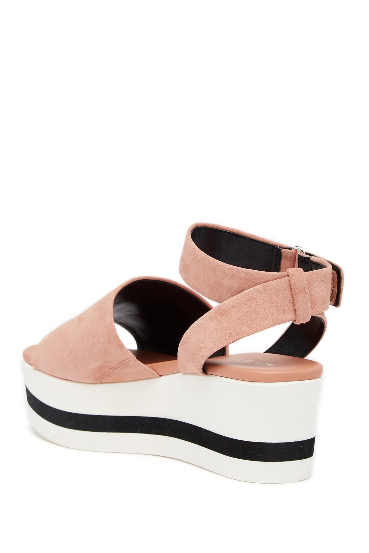 62584383e4d Lyst - Via Spiga Nirvelli Ankle Strap Platform Sandal