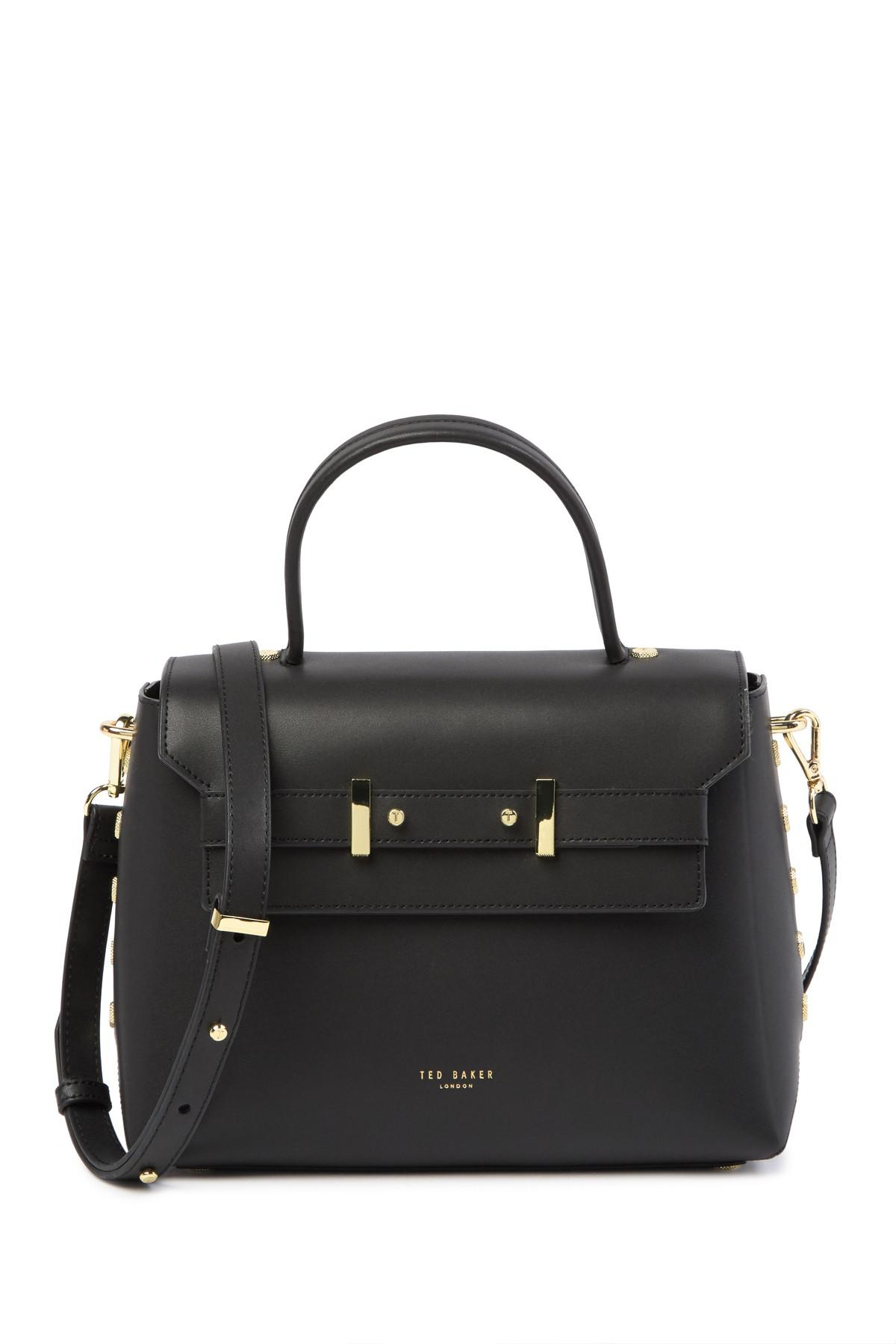 e75112c2620 Ted Baker Studded Edge Leather Lady Bag in Black - Lyst