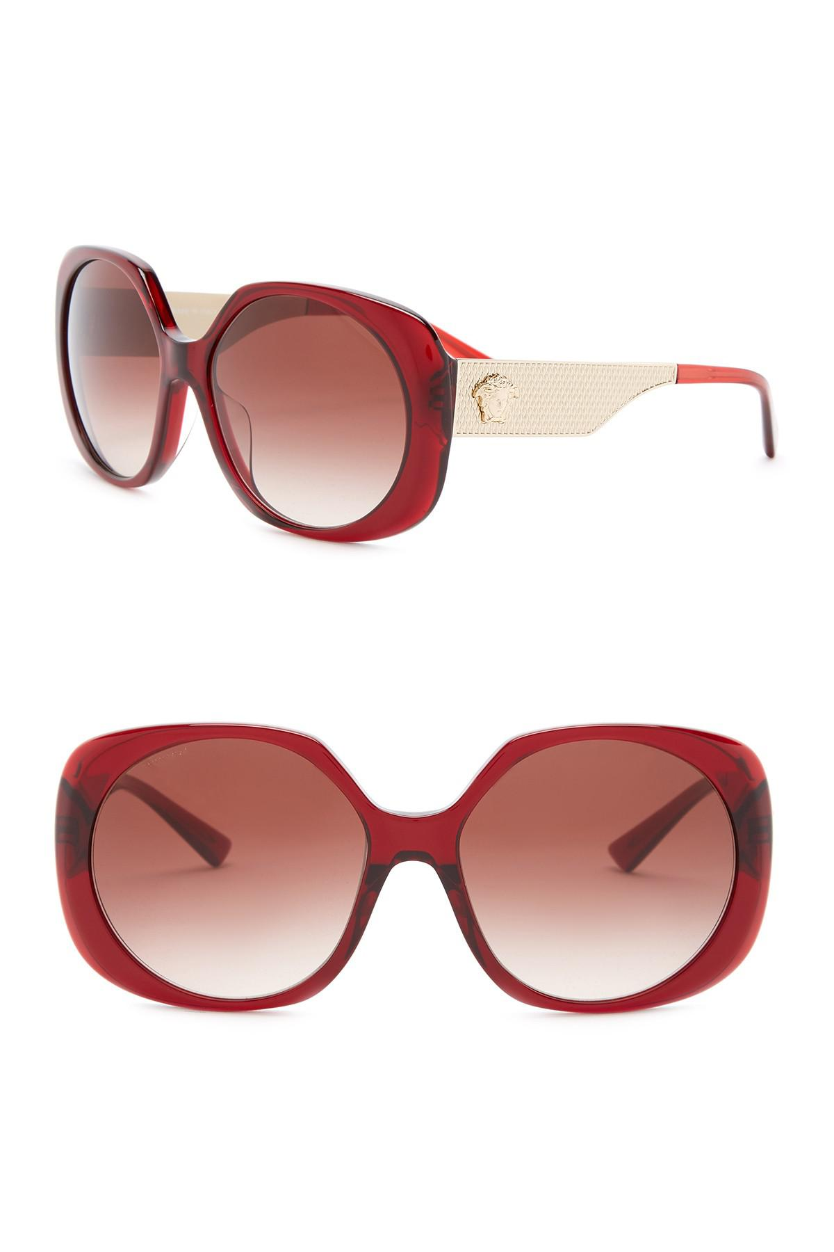 a12e39baf0 Lyst - Versace Rock Icons Studs Medusa 57mm Sunglasses in Red