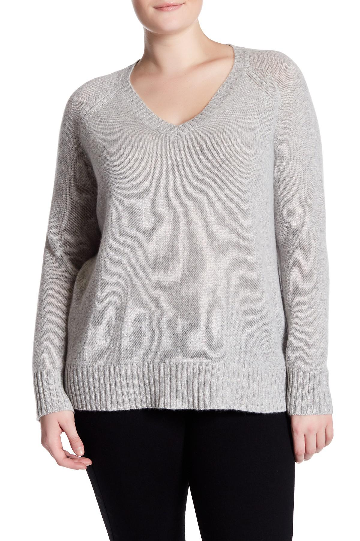 8b29af7f6c4 Lyst - Naked Cashmere Whitney V-neck Cashmere Sweater (plus Size) in ...