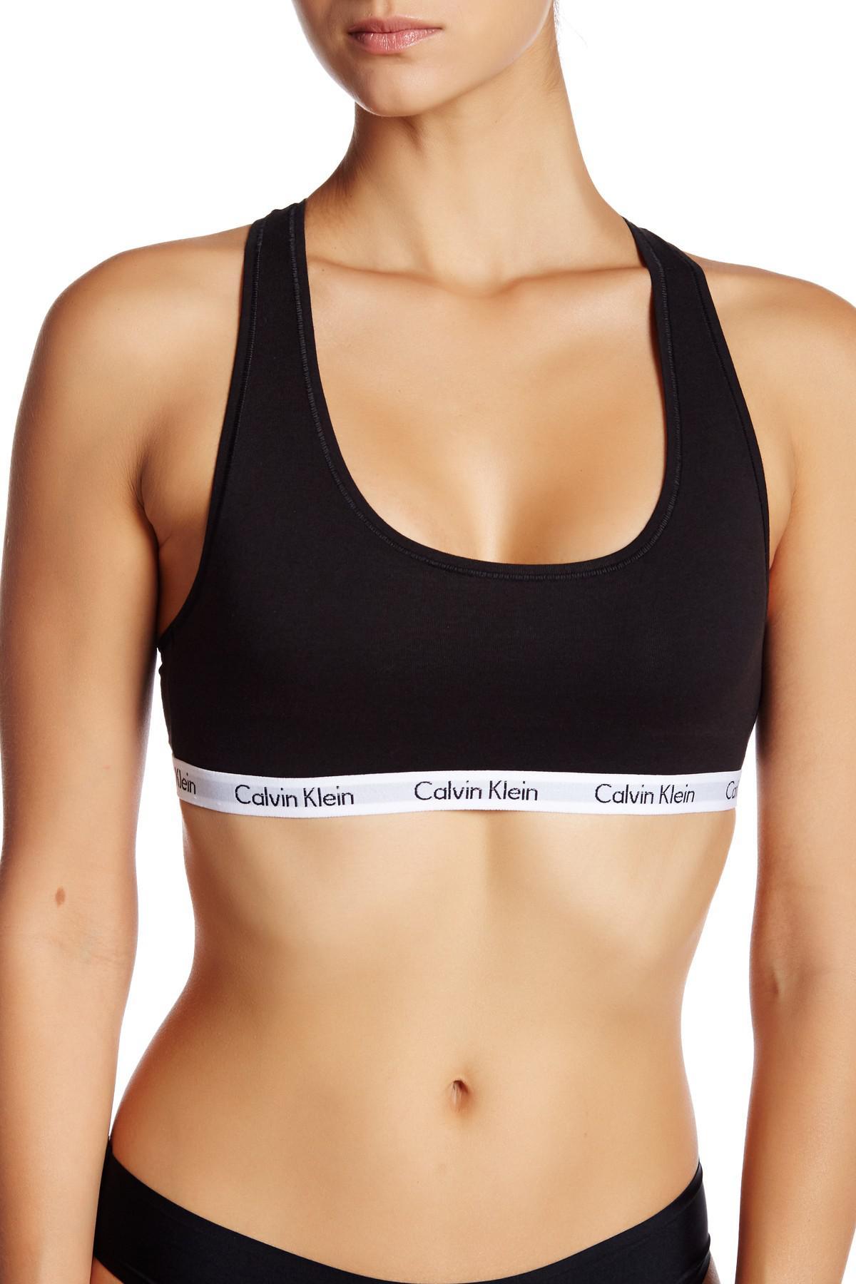 cec32a0af1 Calvin Klein - Black Carousel Racerback Bralette - Lyst. View fullscreen