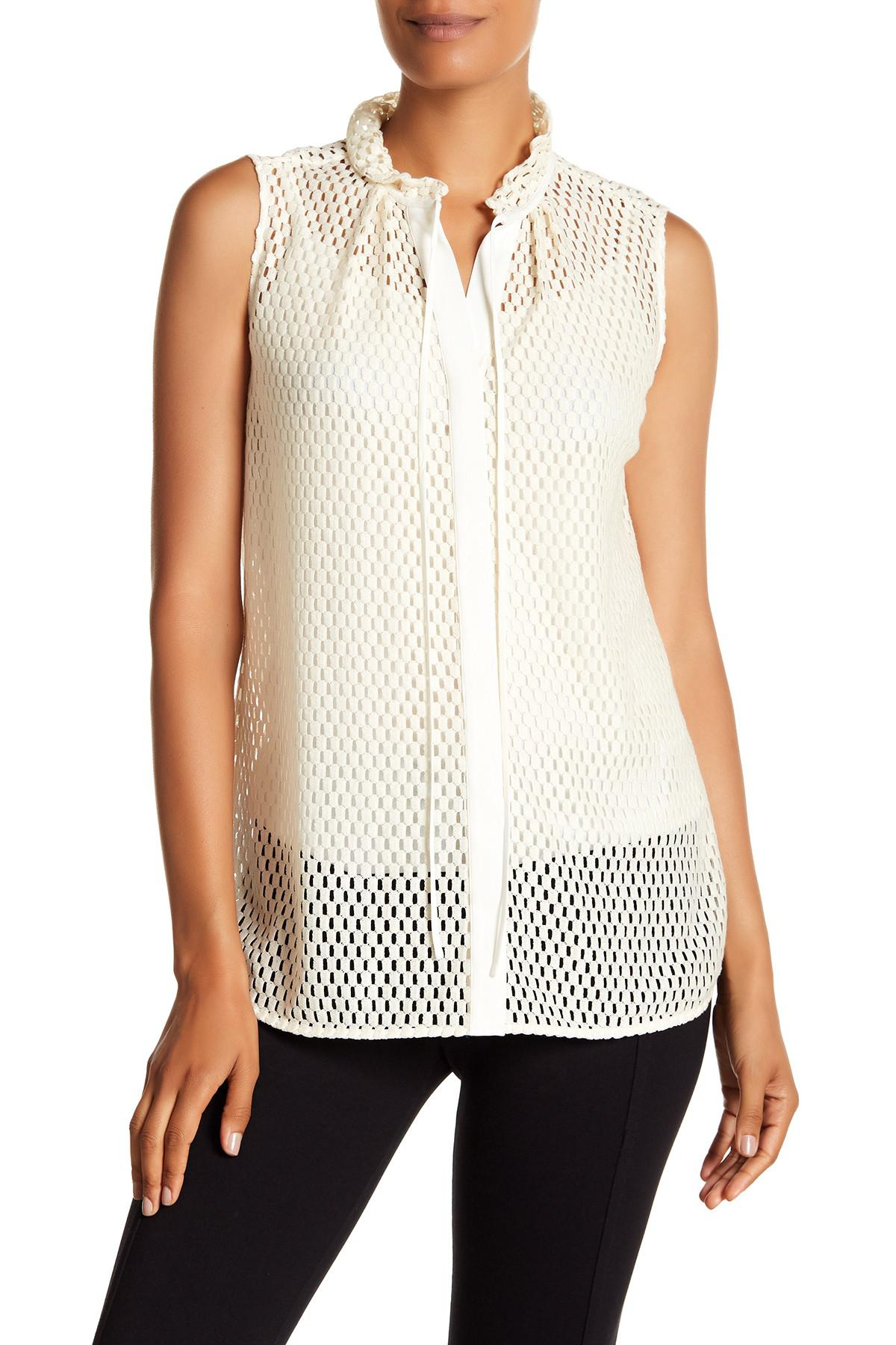 c14a9a3c40bf95 Lyst - Lafayette 148 New York Annetta Blouse in White