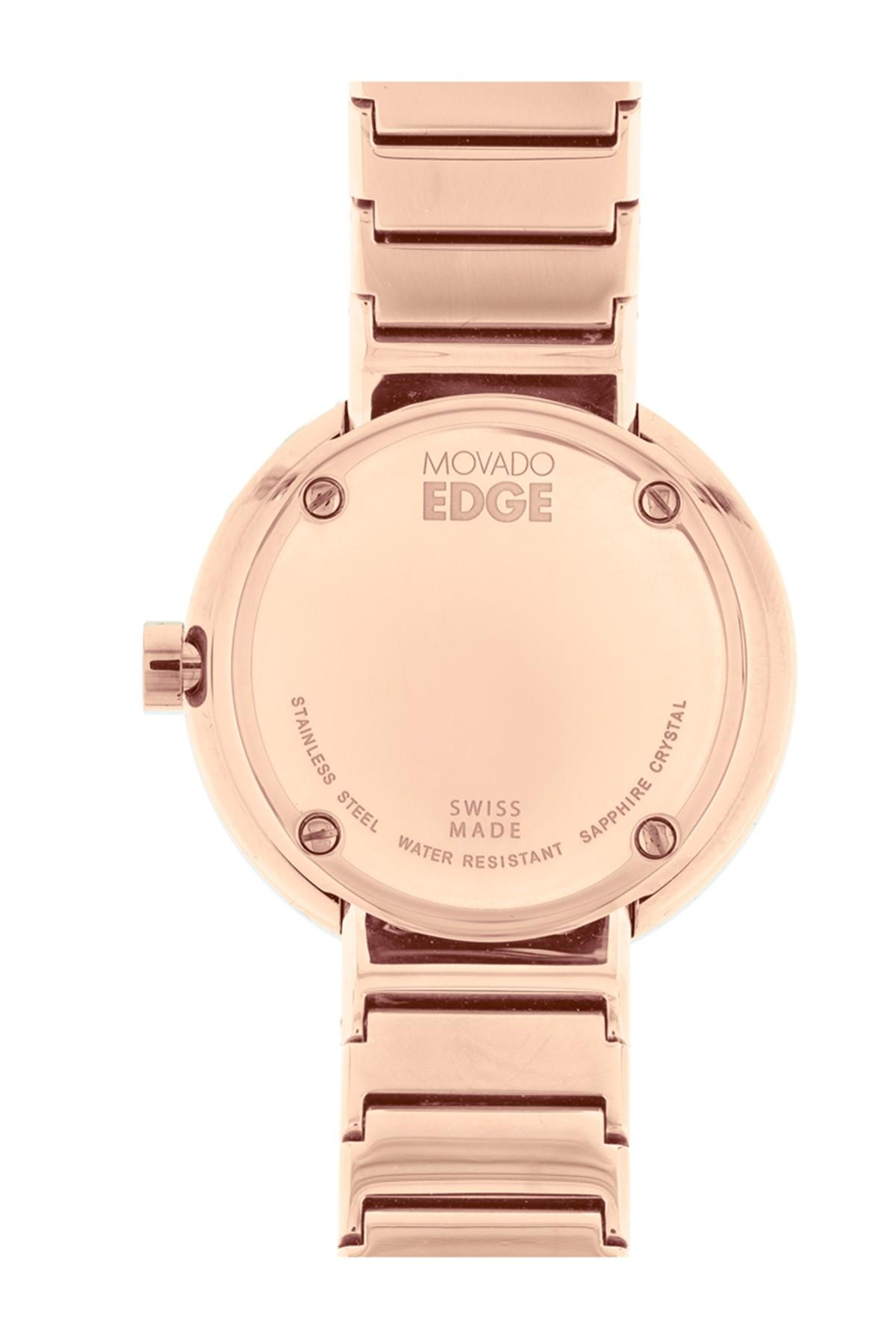 05f8da1a5 Movado - Metallic Women's Edge Bracelet Watch, 34mm - Lyst. View fullscreen