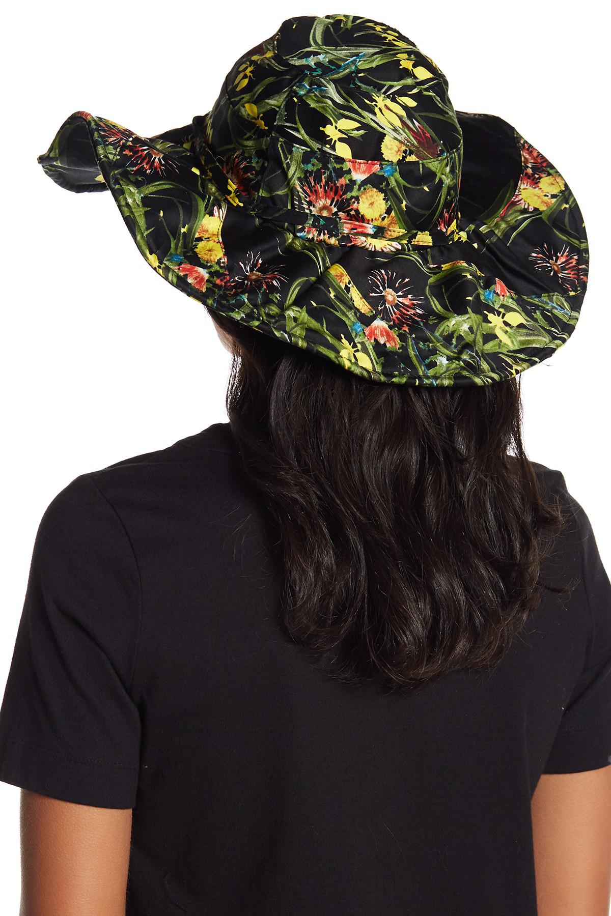 f7f311716bd Lyst - Vince Camuto Floral Print Bucket Hat in Black