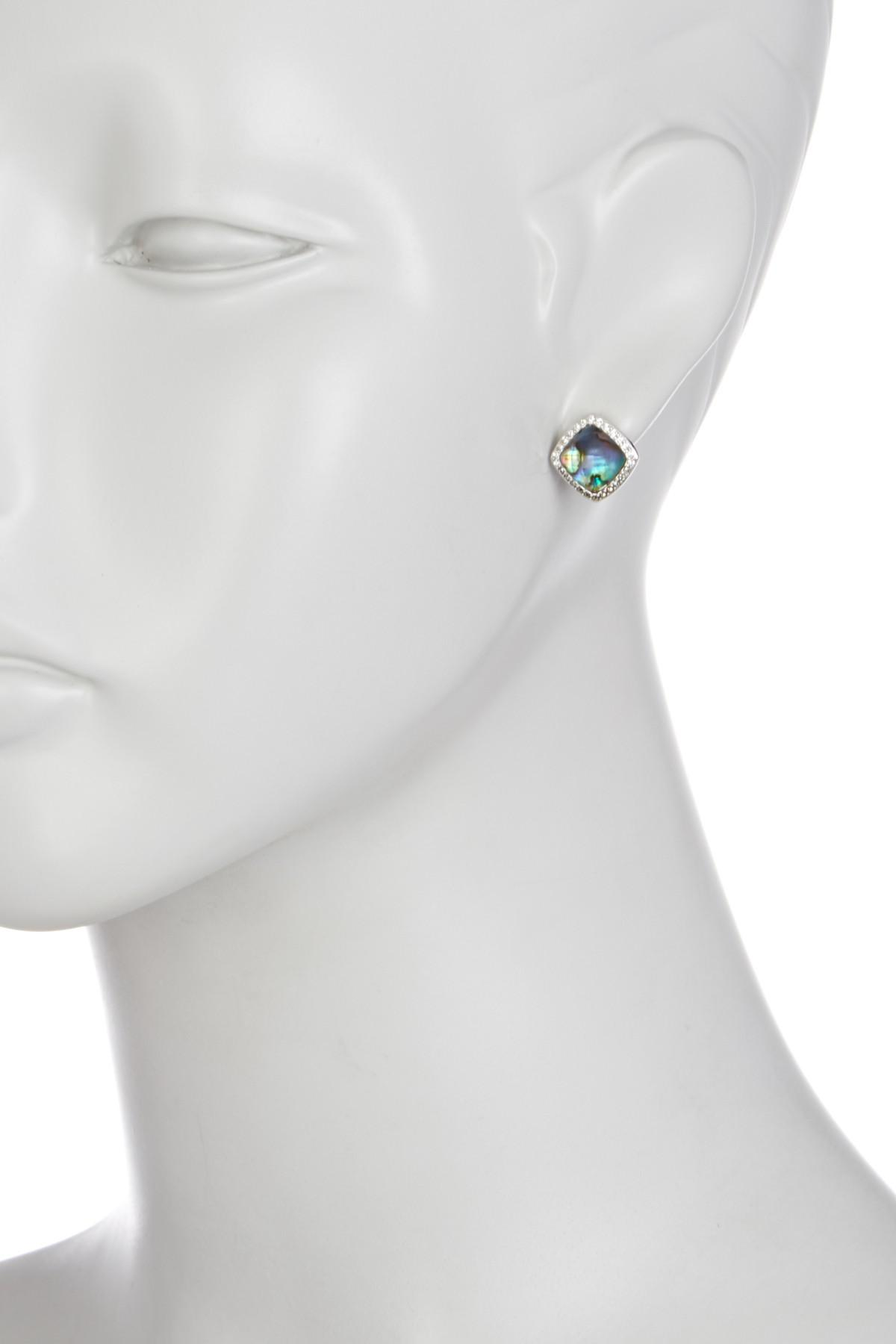 silver which jai artisan stone comes piece abalone oval ha and round in earrings square khun inlay se seashell cute inlaid designed stud aeravida details this heart beautiful trendy accents products