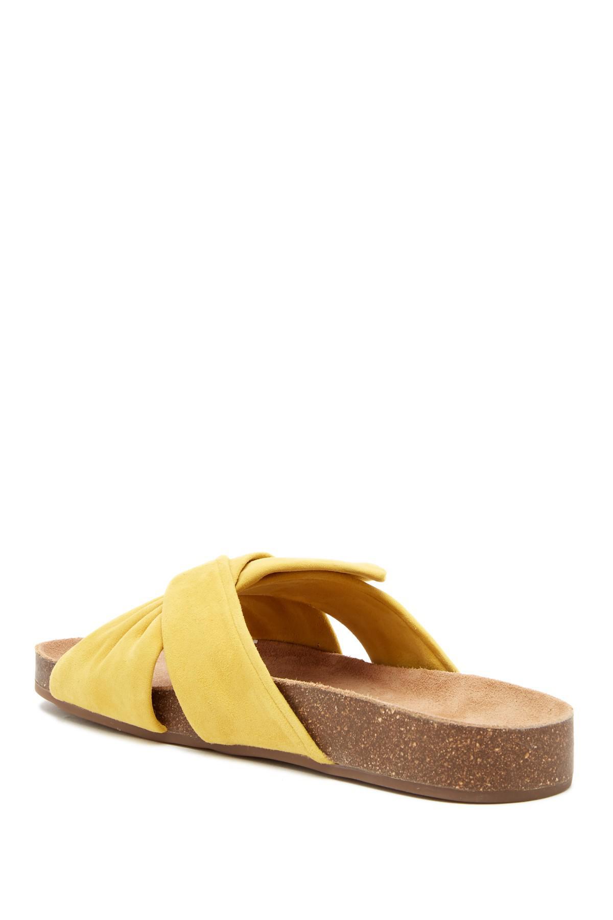 9f70c08ffb9 Lyst - Vince Camuto Berulia Suede Slide Sandal in Yellow