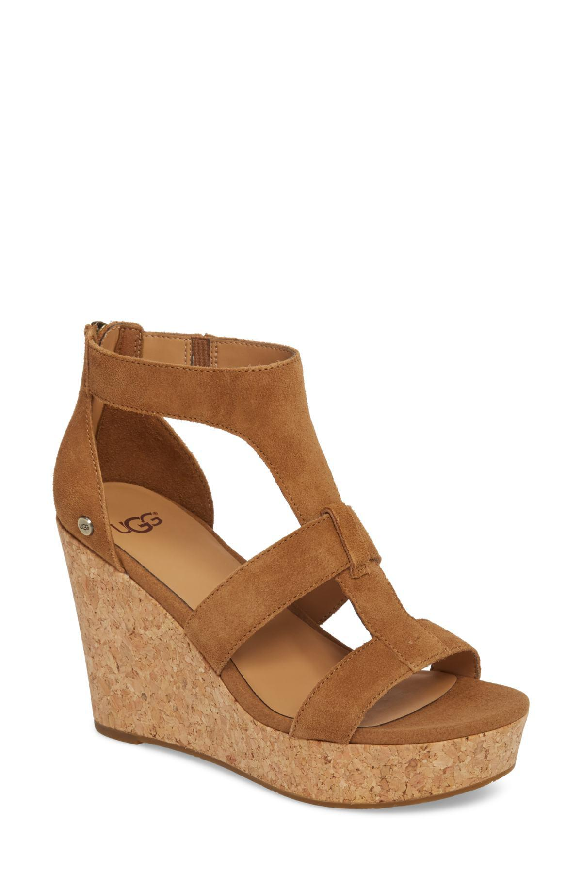 479a8a794f41 Lyst - UGG Whitney Platform Wedge Sandal in Brown - Save 45%