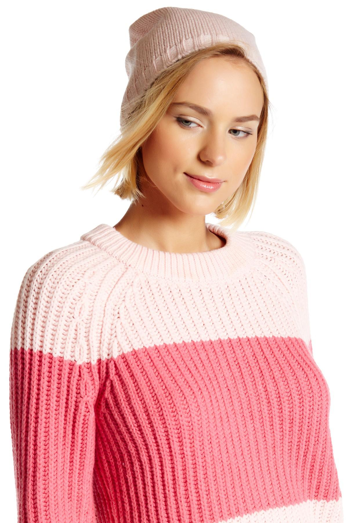 19a7b2ffd7e17 Lyst - Kate Spade Gathered Bow Beanie in Pink