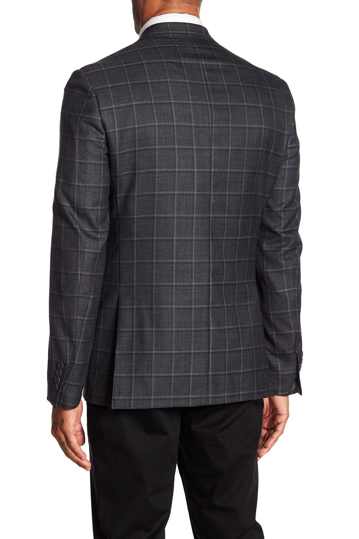 c22d90801ca Lyst - Nordstrom Trim Fit Windowpane Wool Sport Coat in Gray for Men