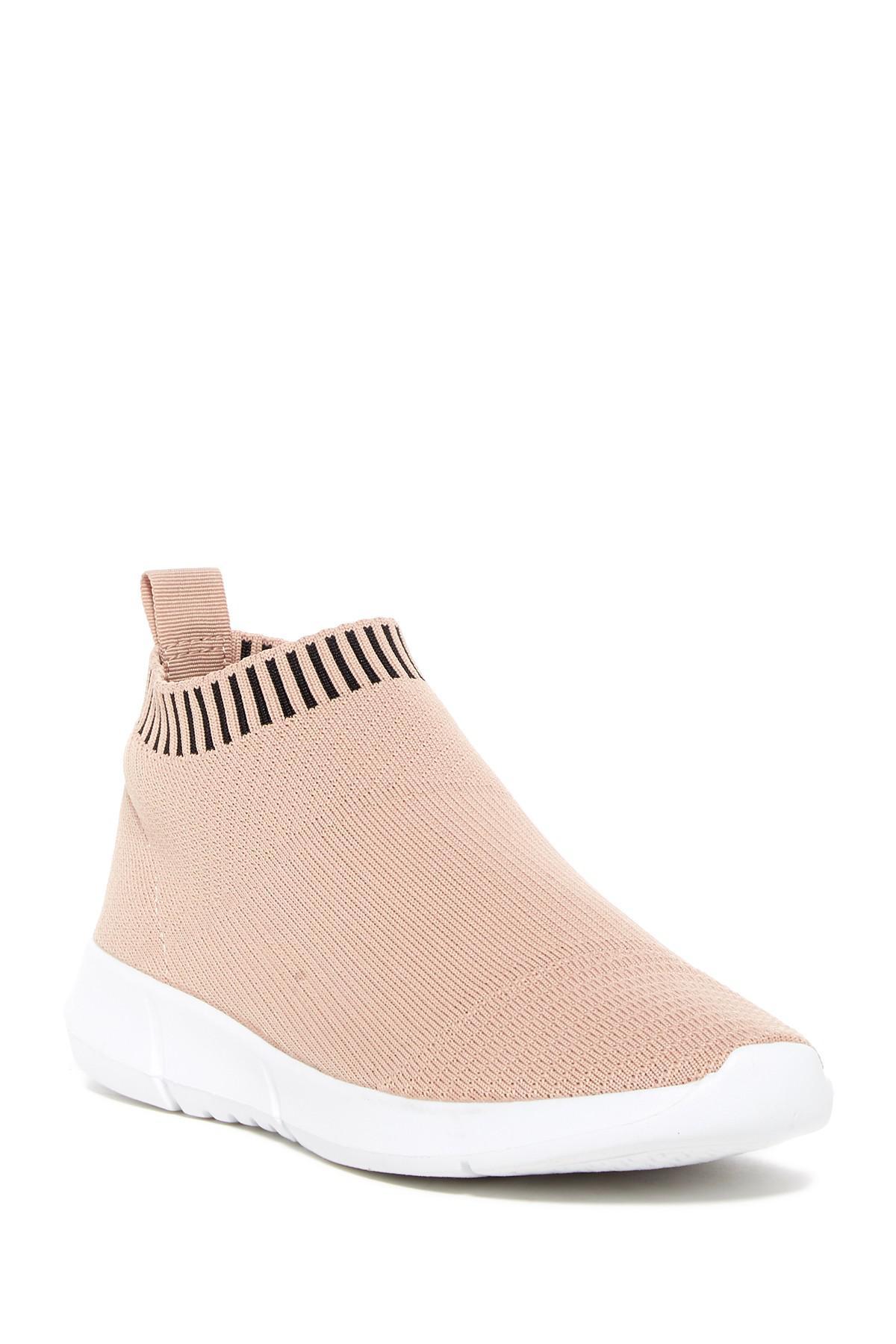 2f822688c56 Lyst - Steve Madden Farson Stretch Knit Sneaker in Pink