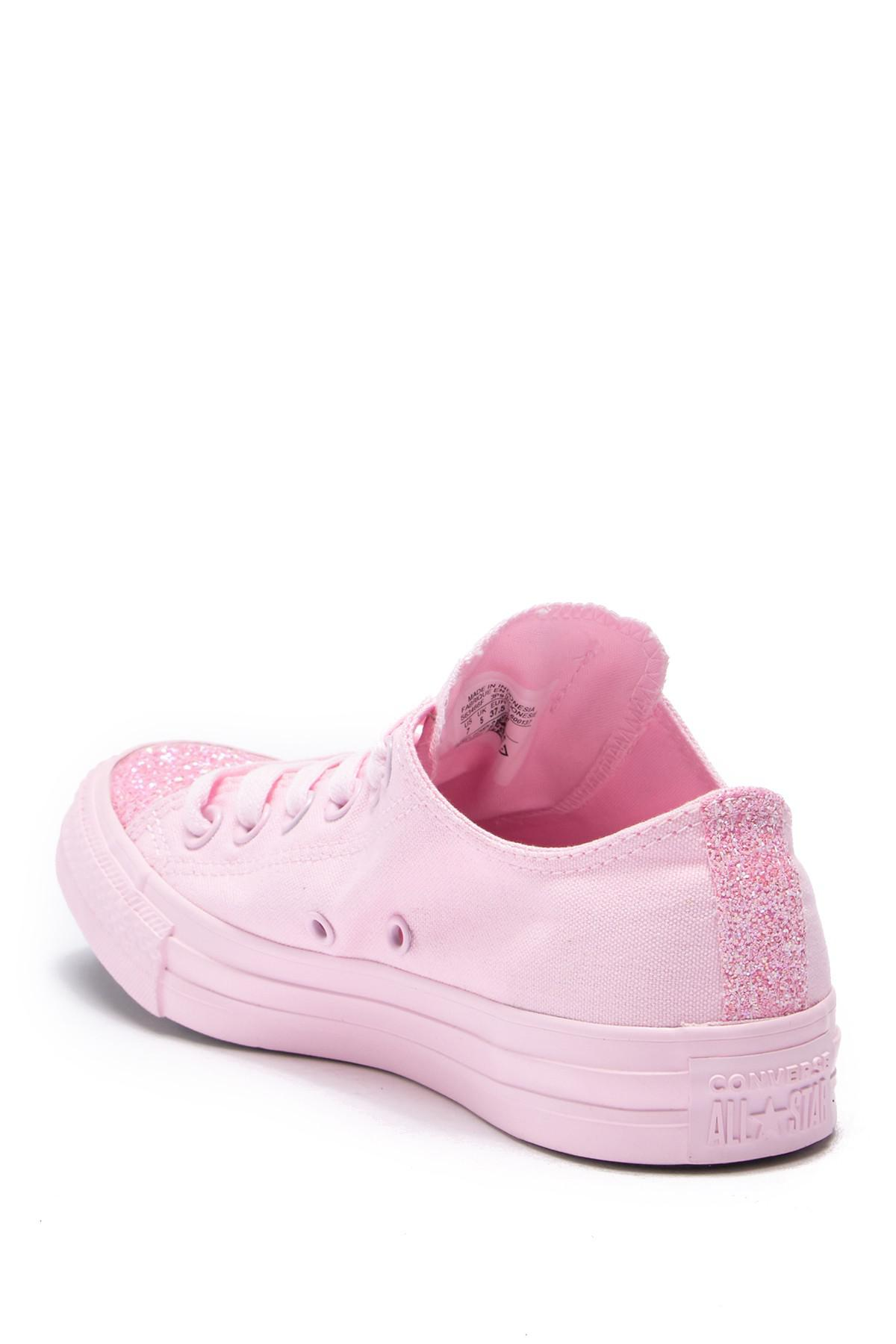 8e360eed8339 Converse - Pink Chuck Taylor All Star Ox Glitter Toe Sneaker (women) -  Lyst. View fullscreen