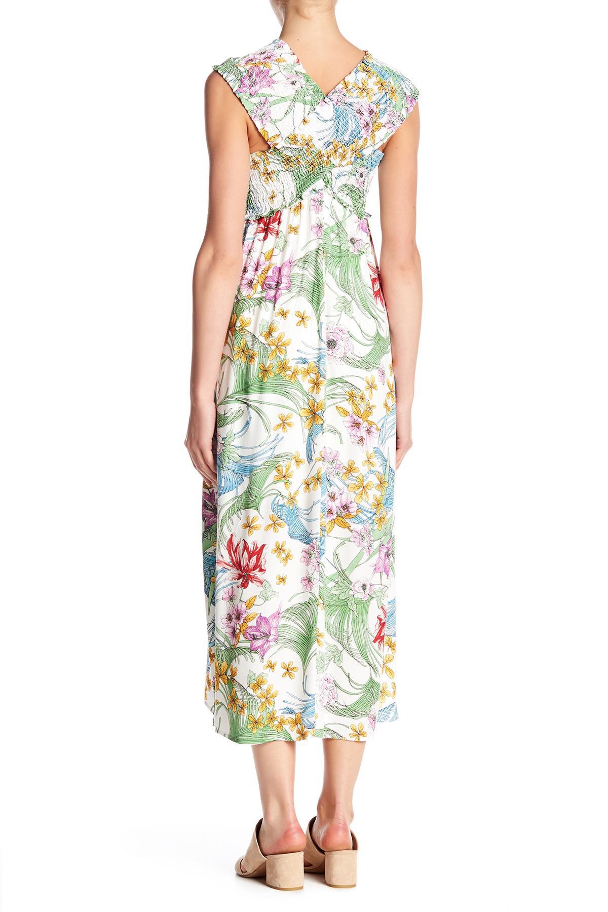 c054075a4e8c1 Lyst - Lush Smocked Bodice Maxi Dress