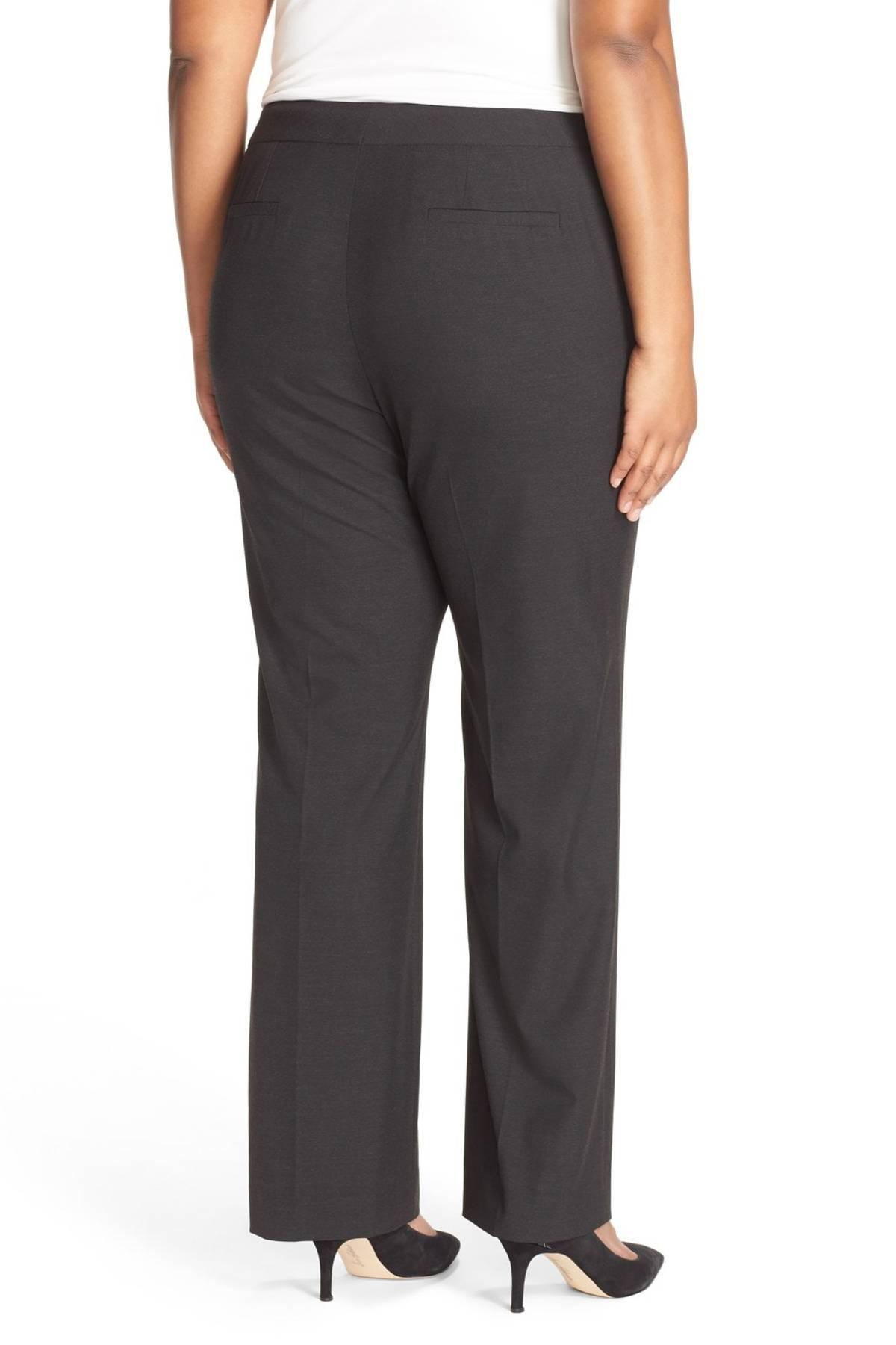 0ae850d429a Lyst - Sejour  ela  Stretch Curvy Fit Wide Leg Suit Pants (plus Size ...