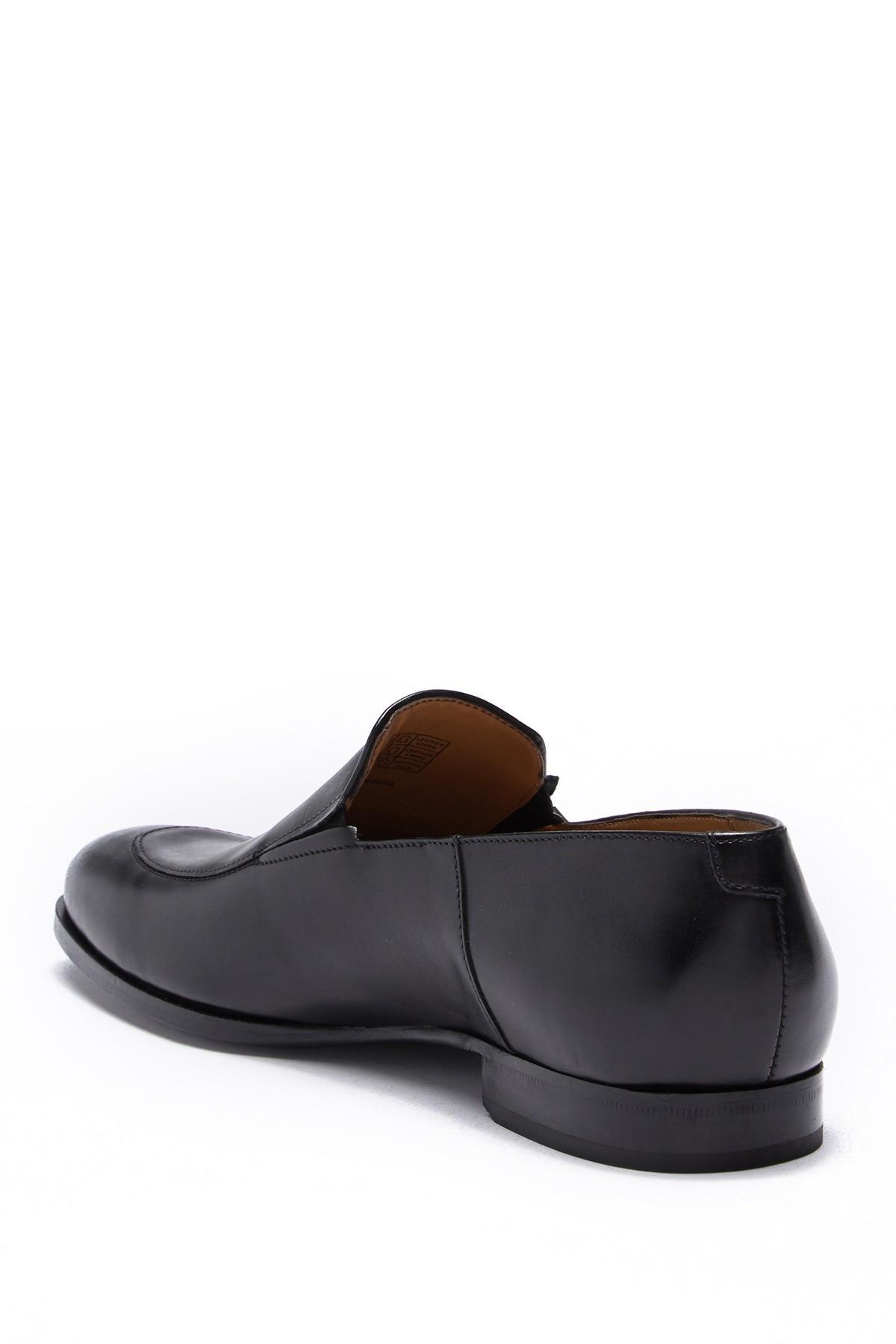 81e83b334ef BOSS - Black Hannover Venetian Leather Loafer for Men - Lyst. View  fullscreen