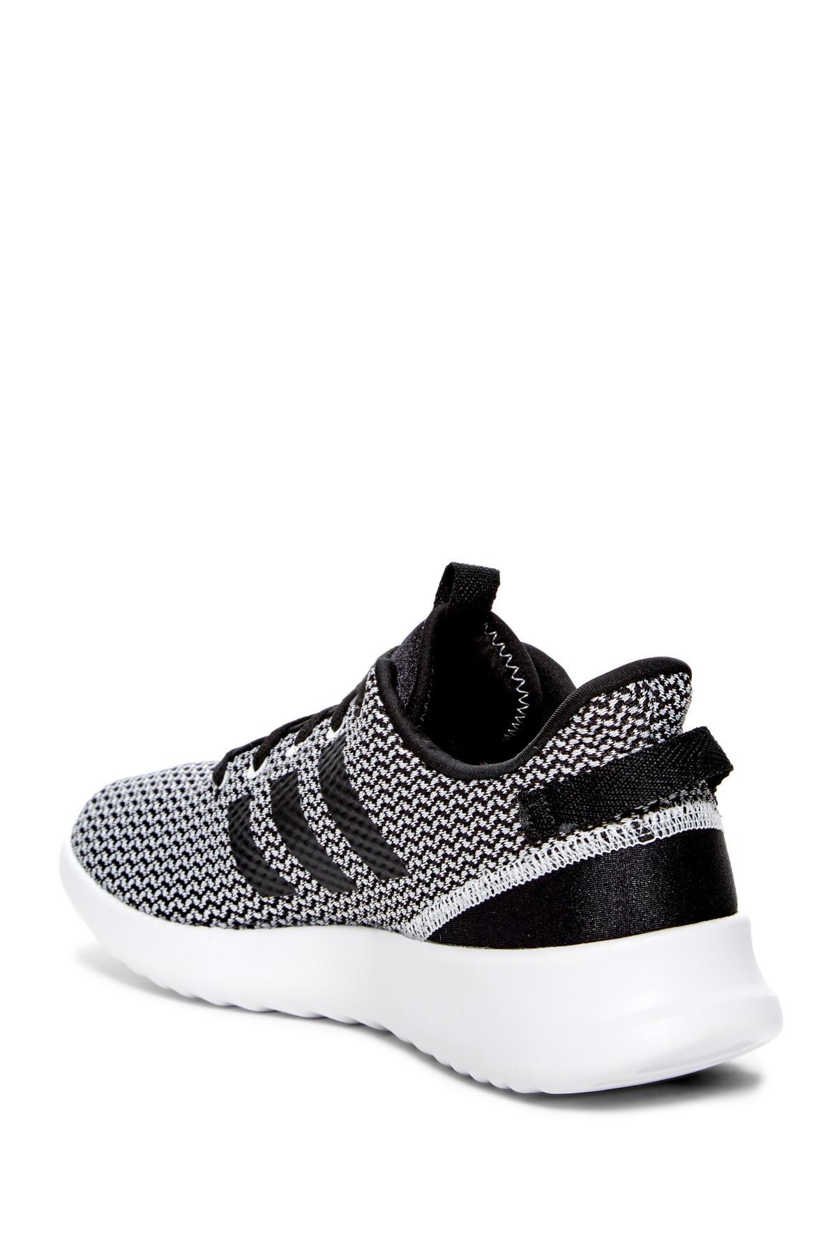 lyst adidas cloudfoam racer tracce in scarpe da ginnastica in nero per gli uomini.
