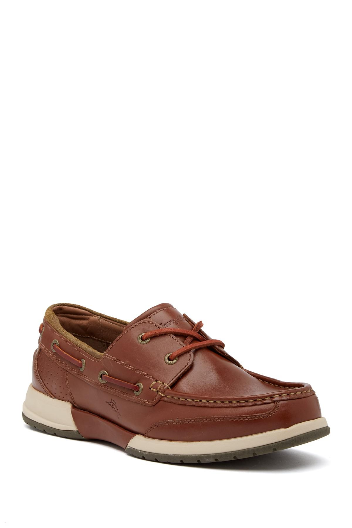 Tommy Bahama. Men's Brown Land Rover Boat Shoe
