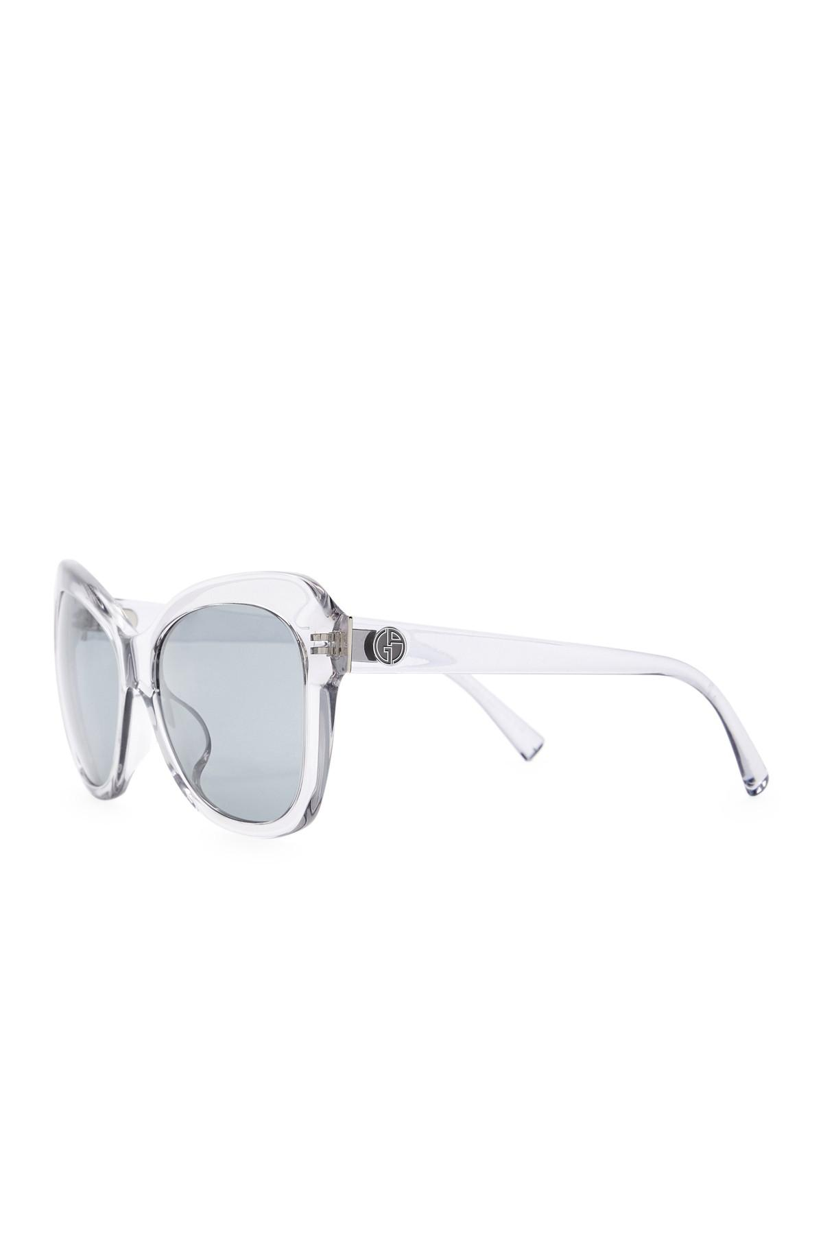 5795350bd5a Lyst - Giorgio Armani Cat Eye 57mm Acetate Frame Sunglasses in Gray