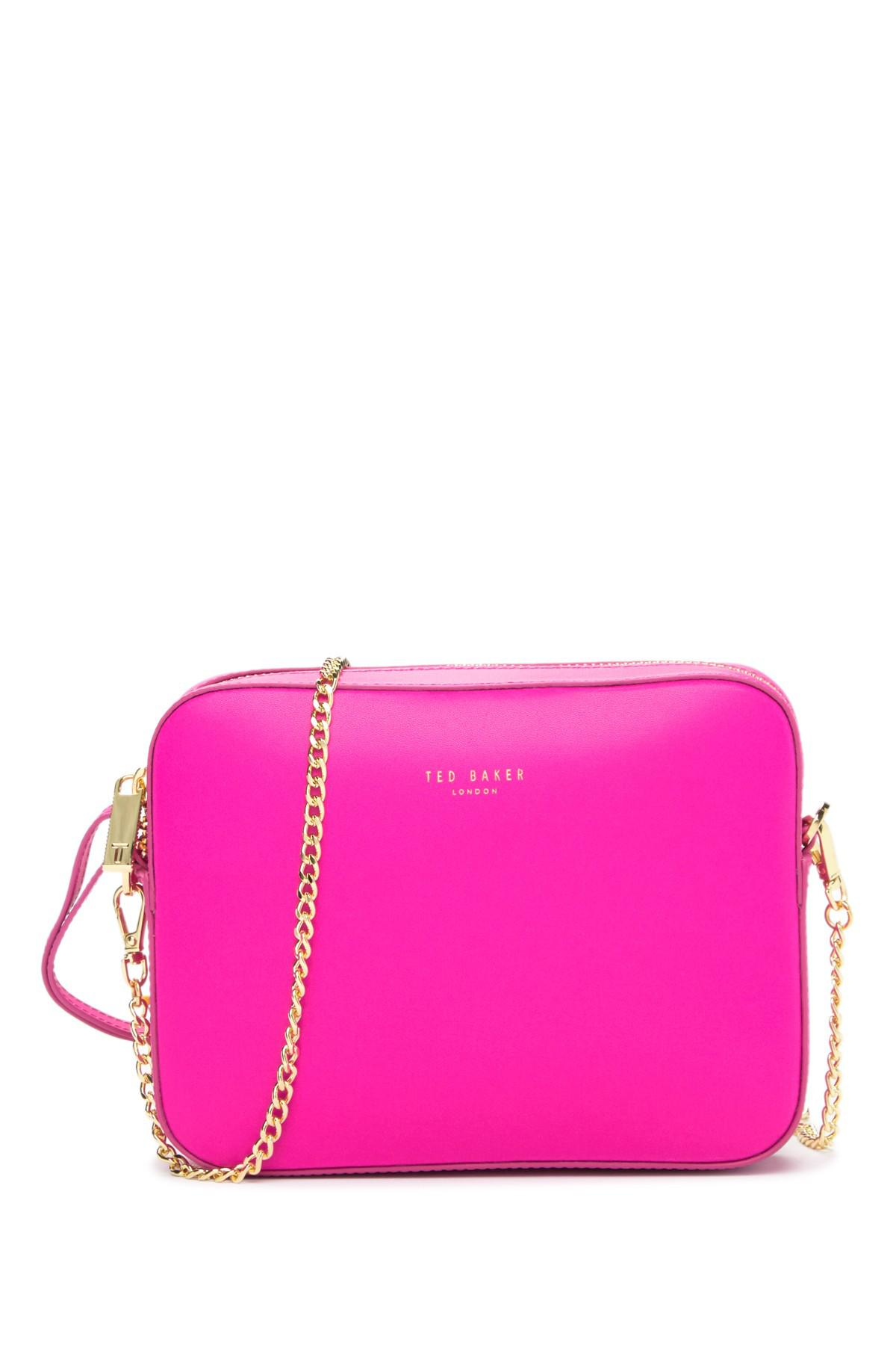 745357b49 Ted Baker Laneyy Chain Strap Camera Bag in Pink - Lyst