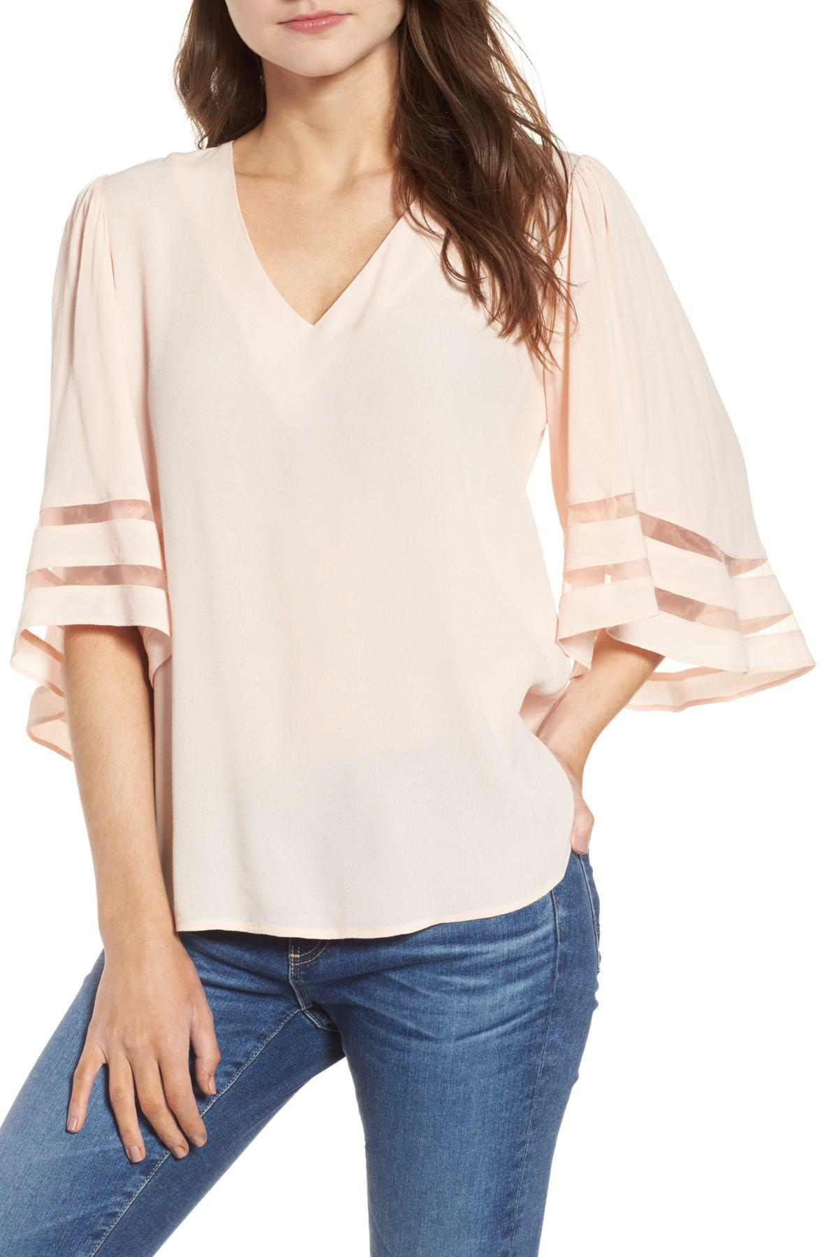807a3ca5afd23c Lyst - Chelsea28 Illusion Sleeve Top - Save 68%