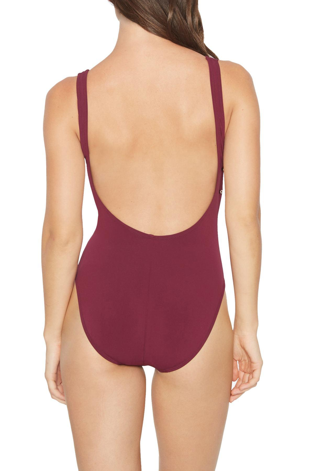01364bcf19041 Lyst - Robin Piccone Luca Scoop Neck One-piece Swimsuit in Purple