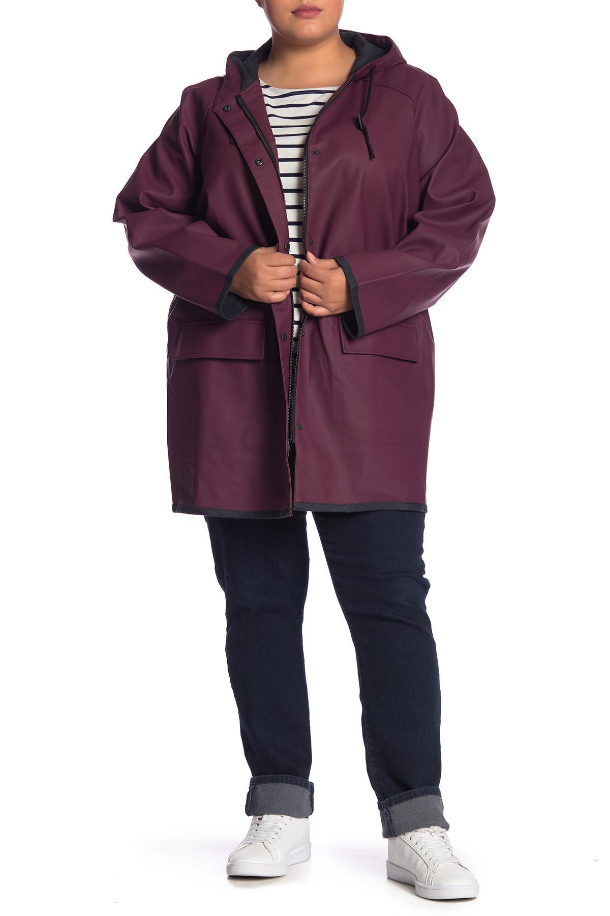 68de7593ae5 Lyst - Levi s Waterproof Raincoat (plus Size) in Purple