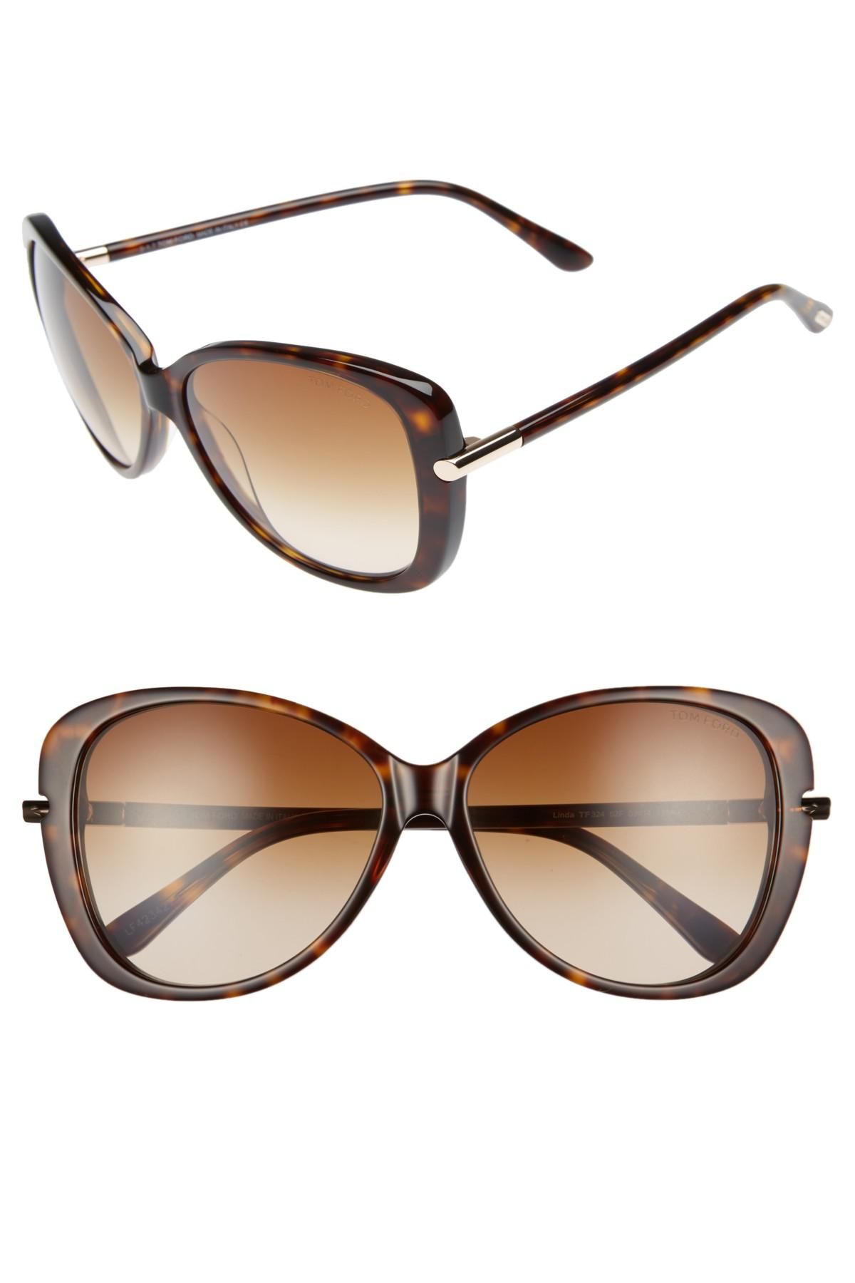 9f198d032df6c Lyst - Tom Ford Linda 59mm Gradient Butterfly Sunglasses - Dark ...