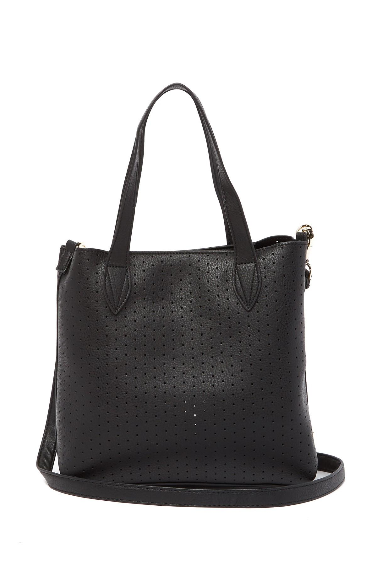 bb7dd96e658c Steve Madden Cassie Perforated Crossbody Bag in Black - Lyst