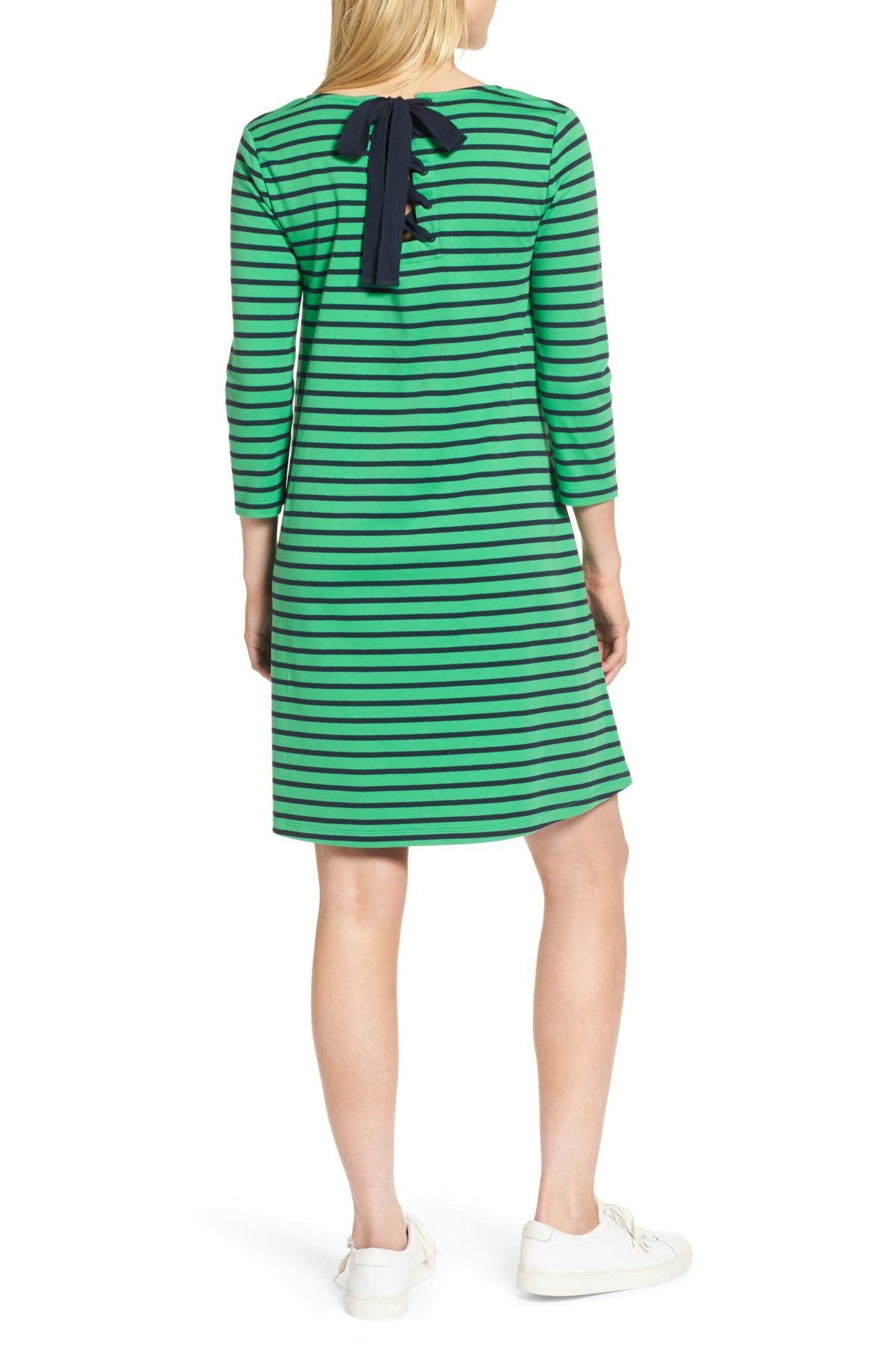 f64ae10166 Lyst - 1901 Tie Back Stripe Knit Dress in Green